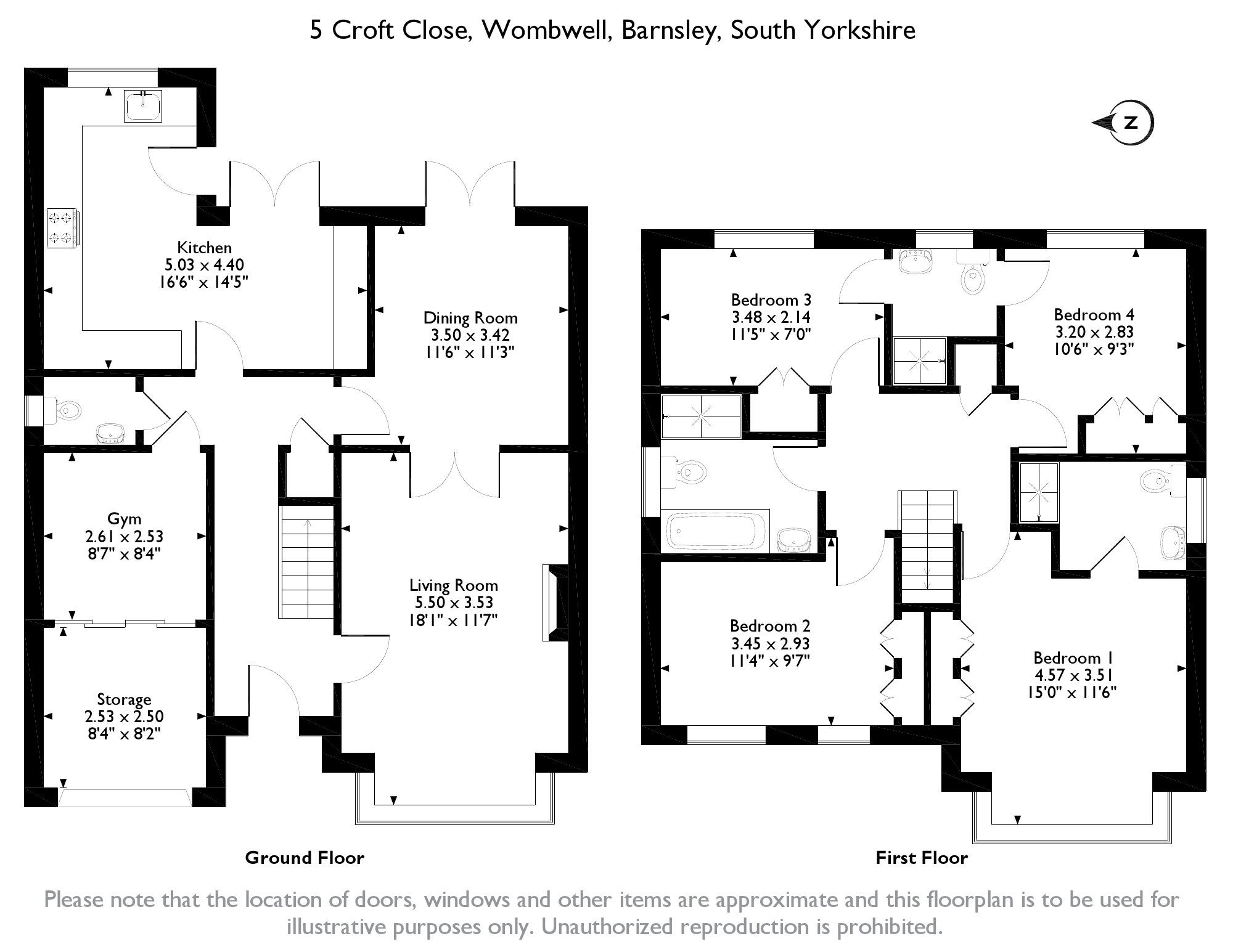 Croft Close, Wombwell, S73 floor plan