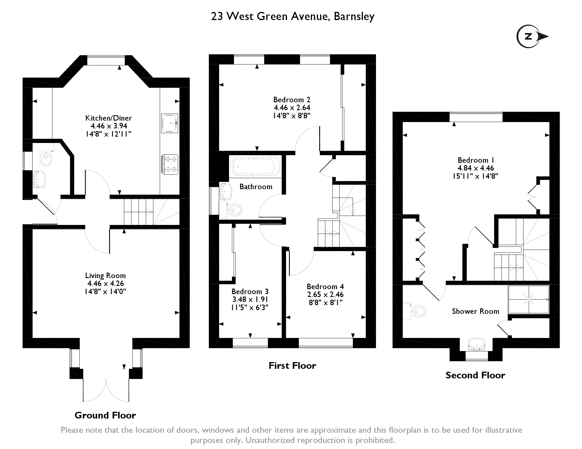 West Green Avenue, Barnsley, South Yorkshire, S71 floor plan