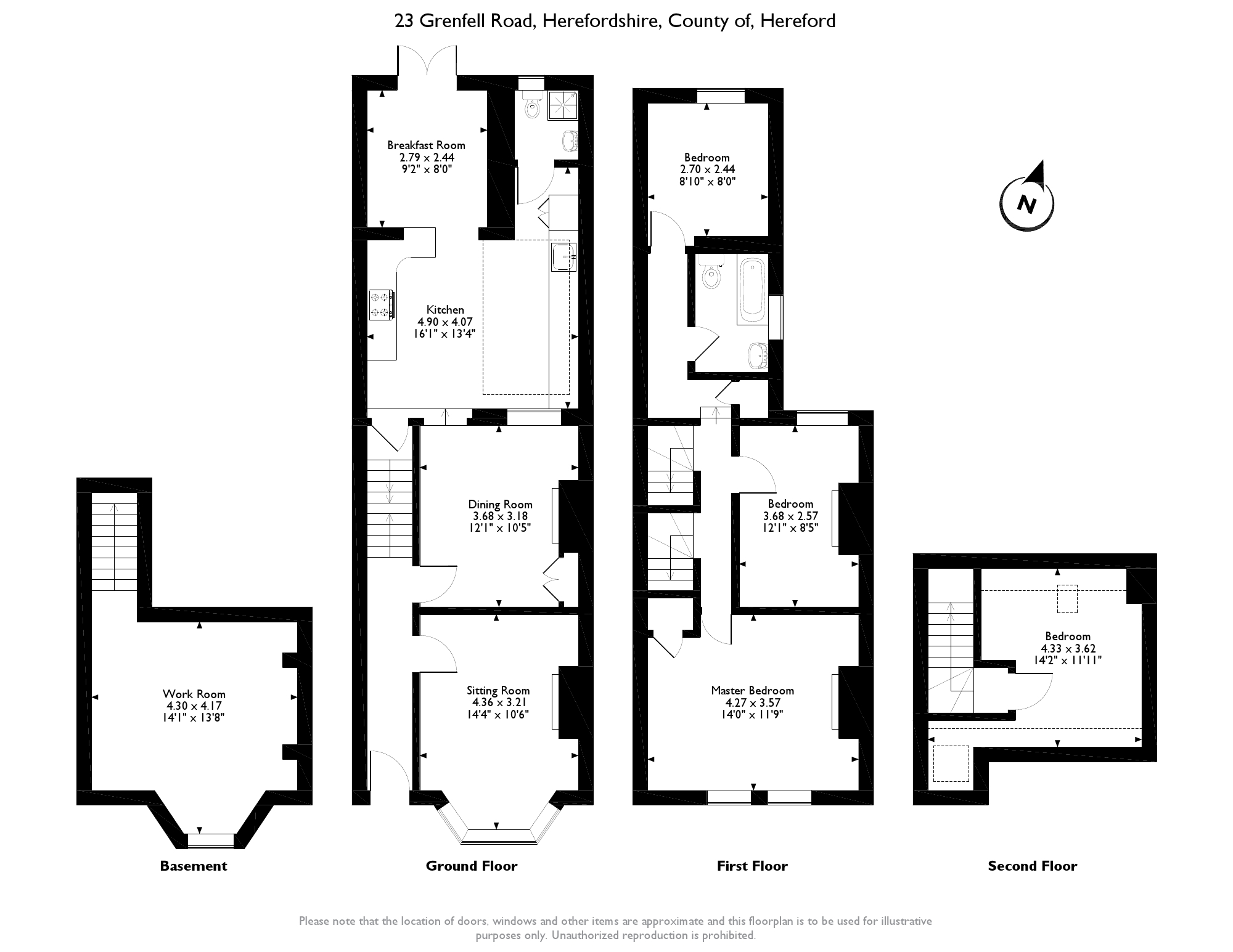 Grenfell Road, Hereford, Herefordshire HR1 floor plan
