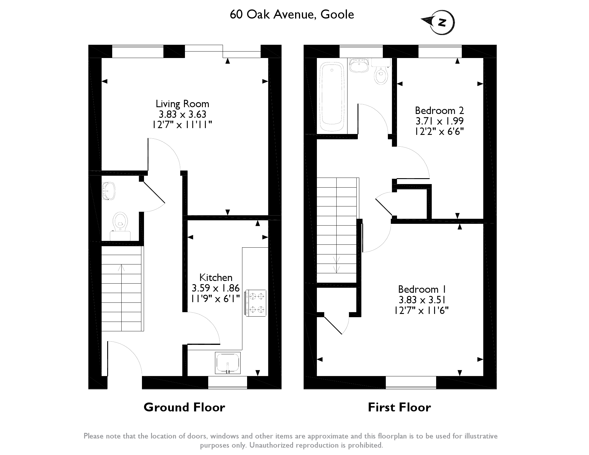 Oak Avenue, Goole, DN14 floor plan