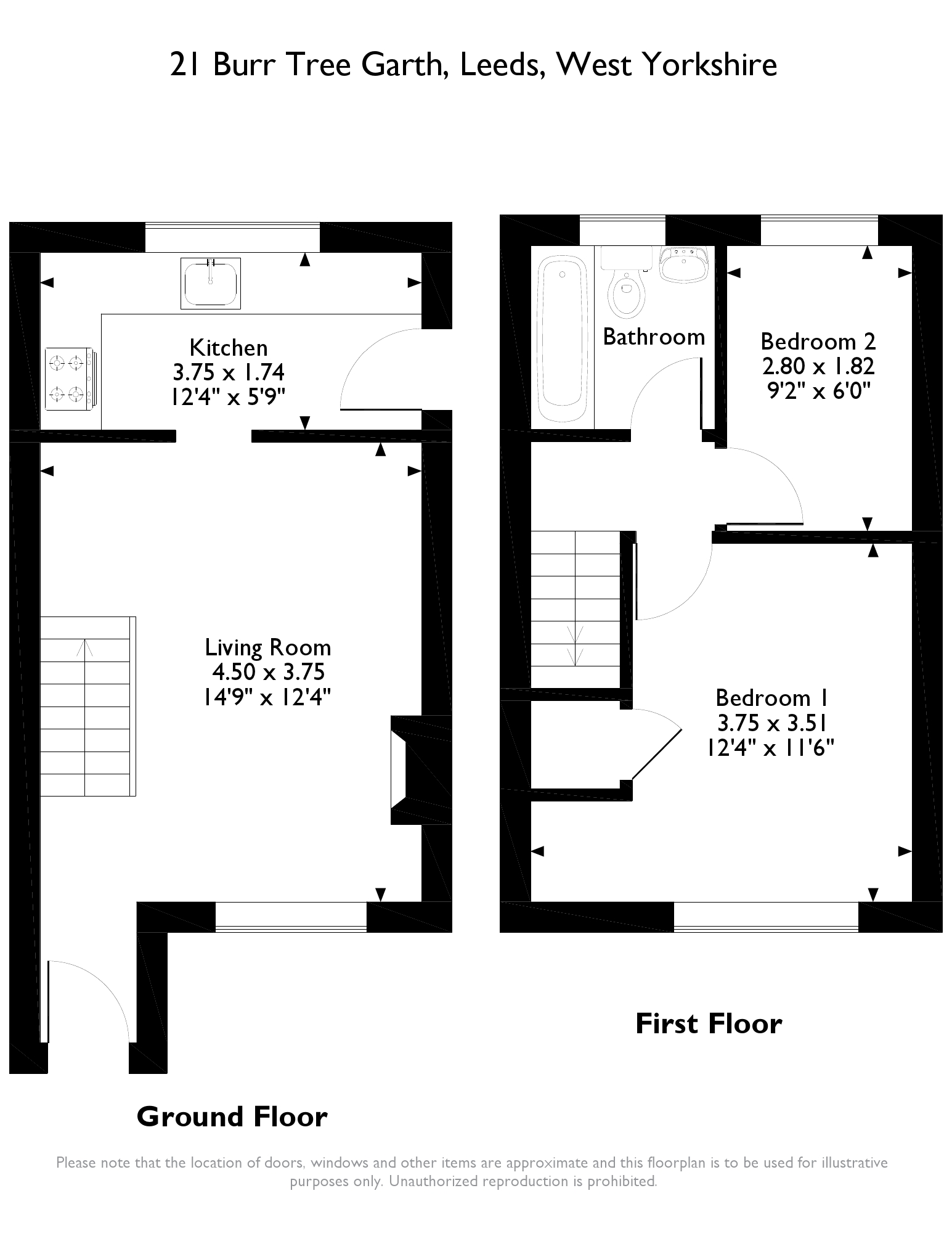 Burr Tree Garth, Leeds, LS15 floor plan