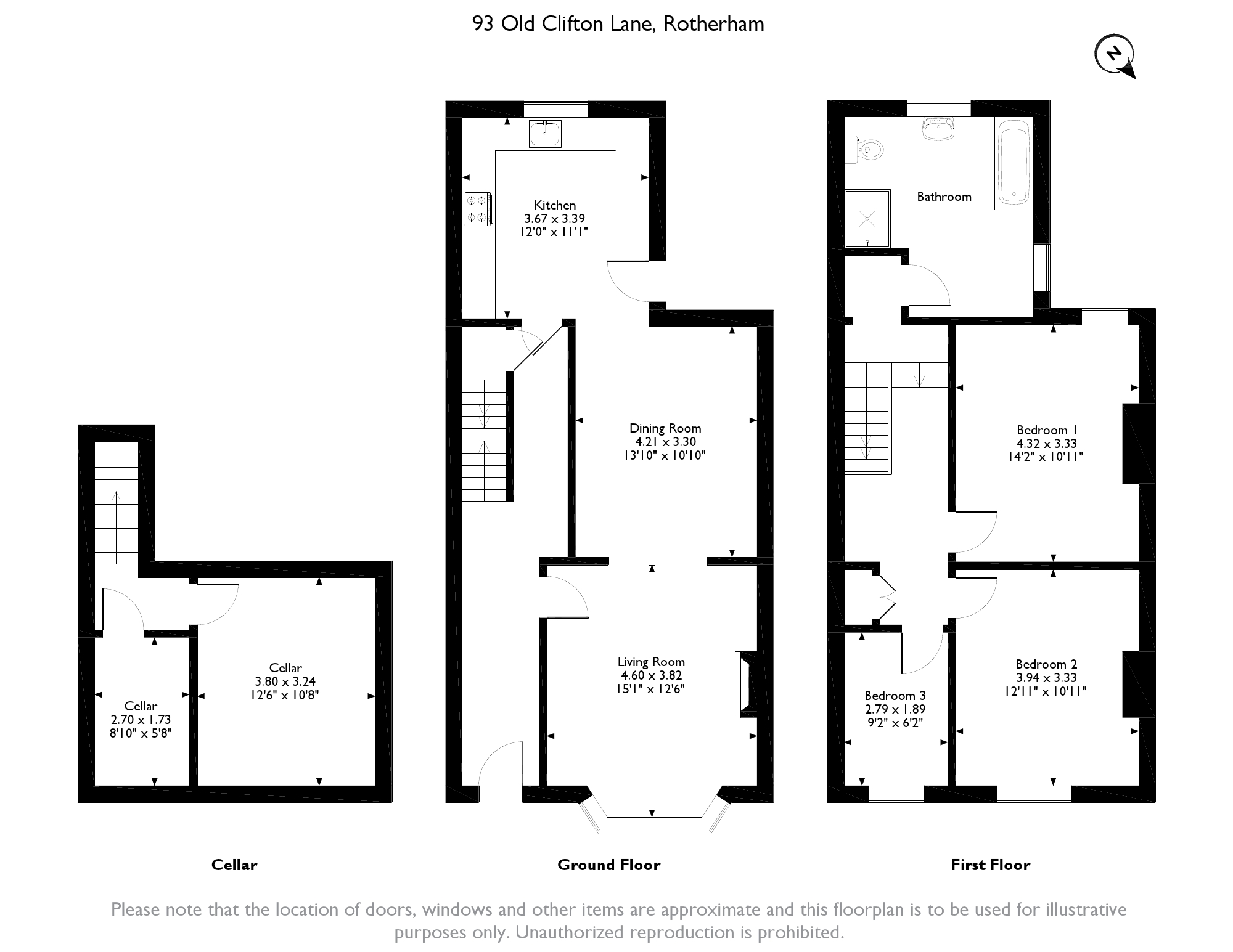 Old Clifton Lane, Rotherham, S65 floor plan
