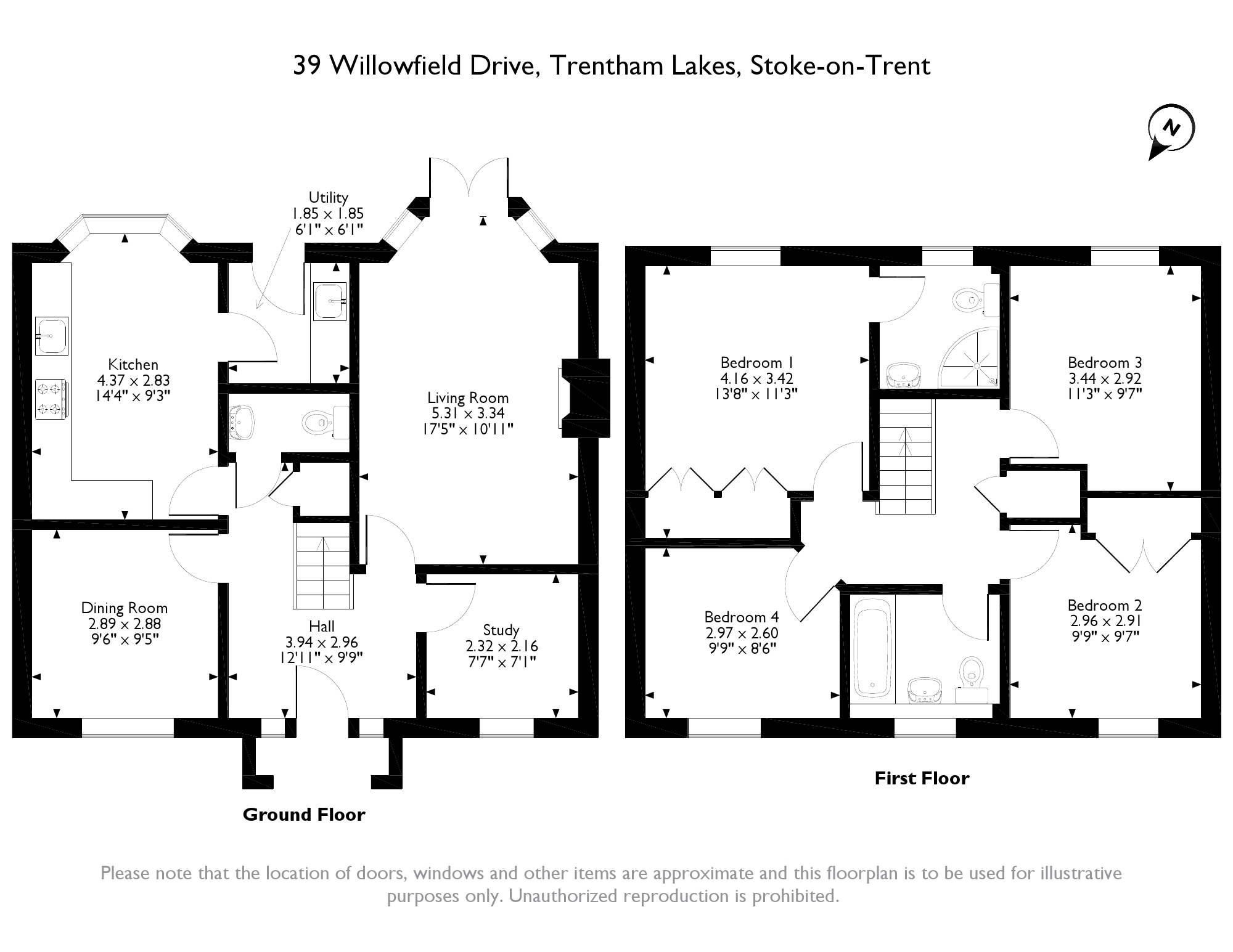 Willowfield Drive, Stoke-on-Trent, ST4 floor plan