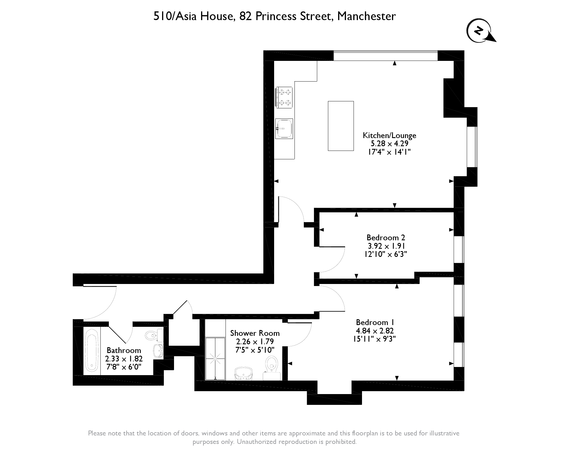 Asia House, 82 Princess Street,  Manchester, M1 floor plan