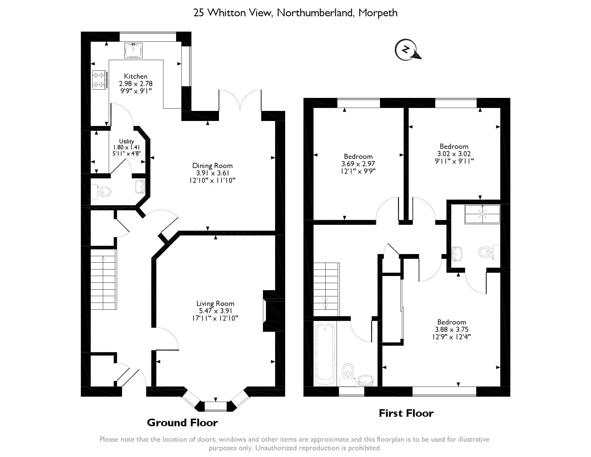 Whitton View, Morpeth, Northumberland, NE65 floor plan