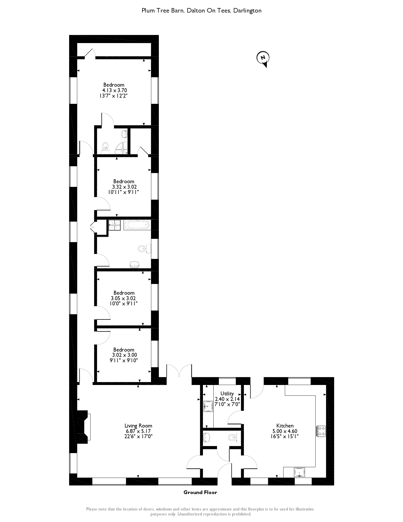 Plum Tree Barn, Dalton on  Tees, Darlington, DL2 floor plan