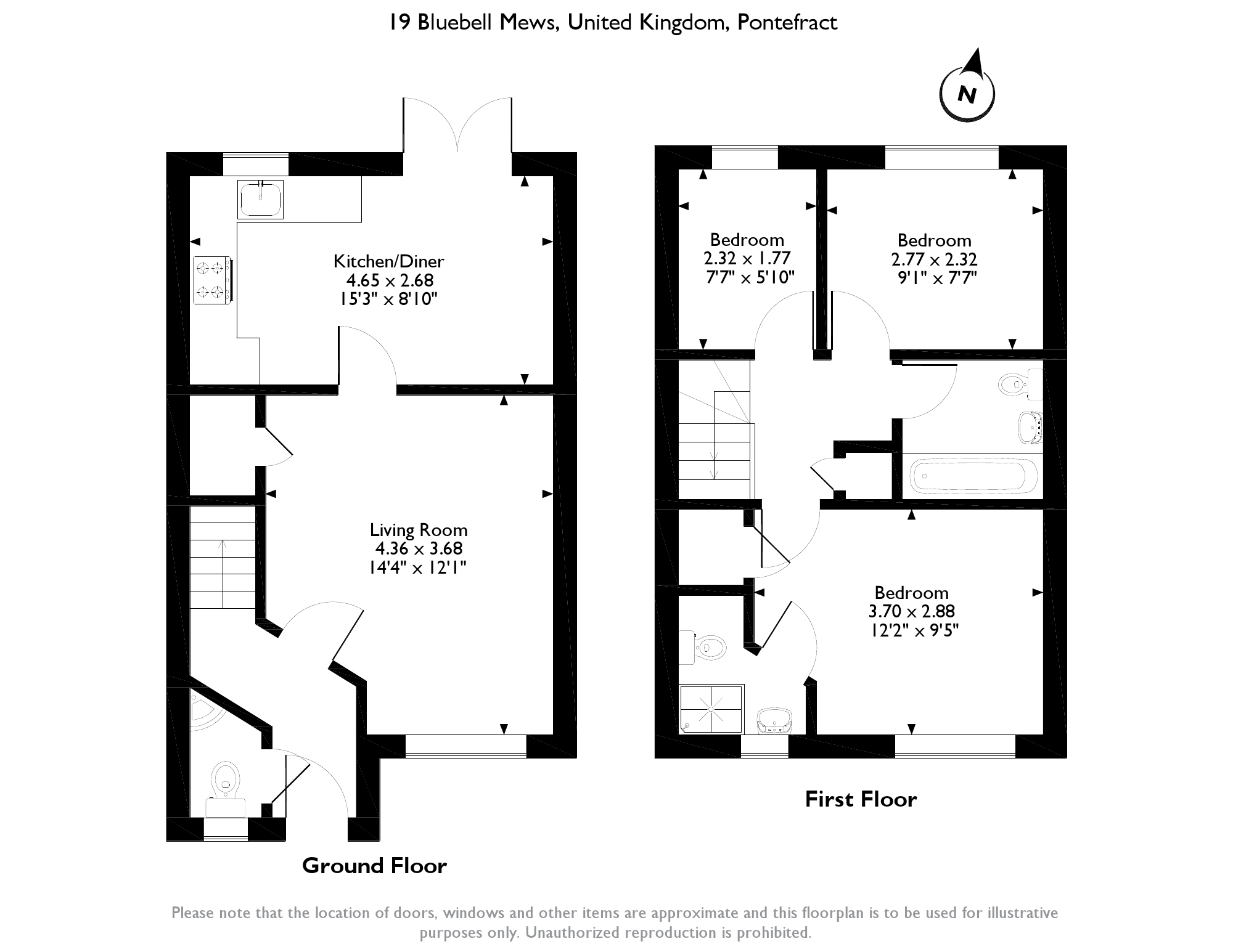Bluebell Mews, South Kirkby, Pontefract, WF9 floor plan