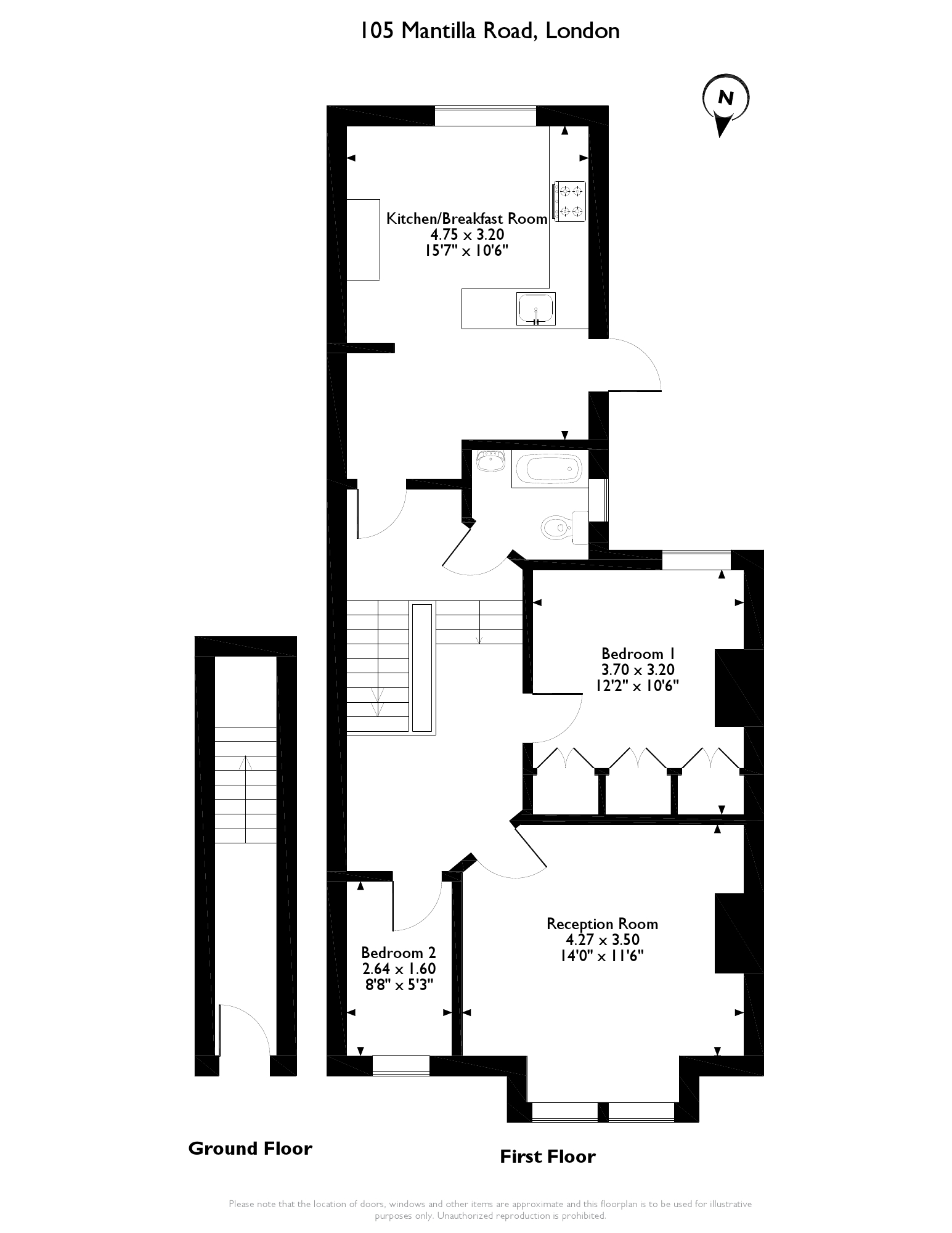 Mantilla Road, London, SW17 floor plan