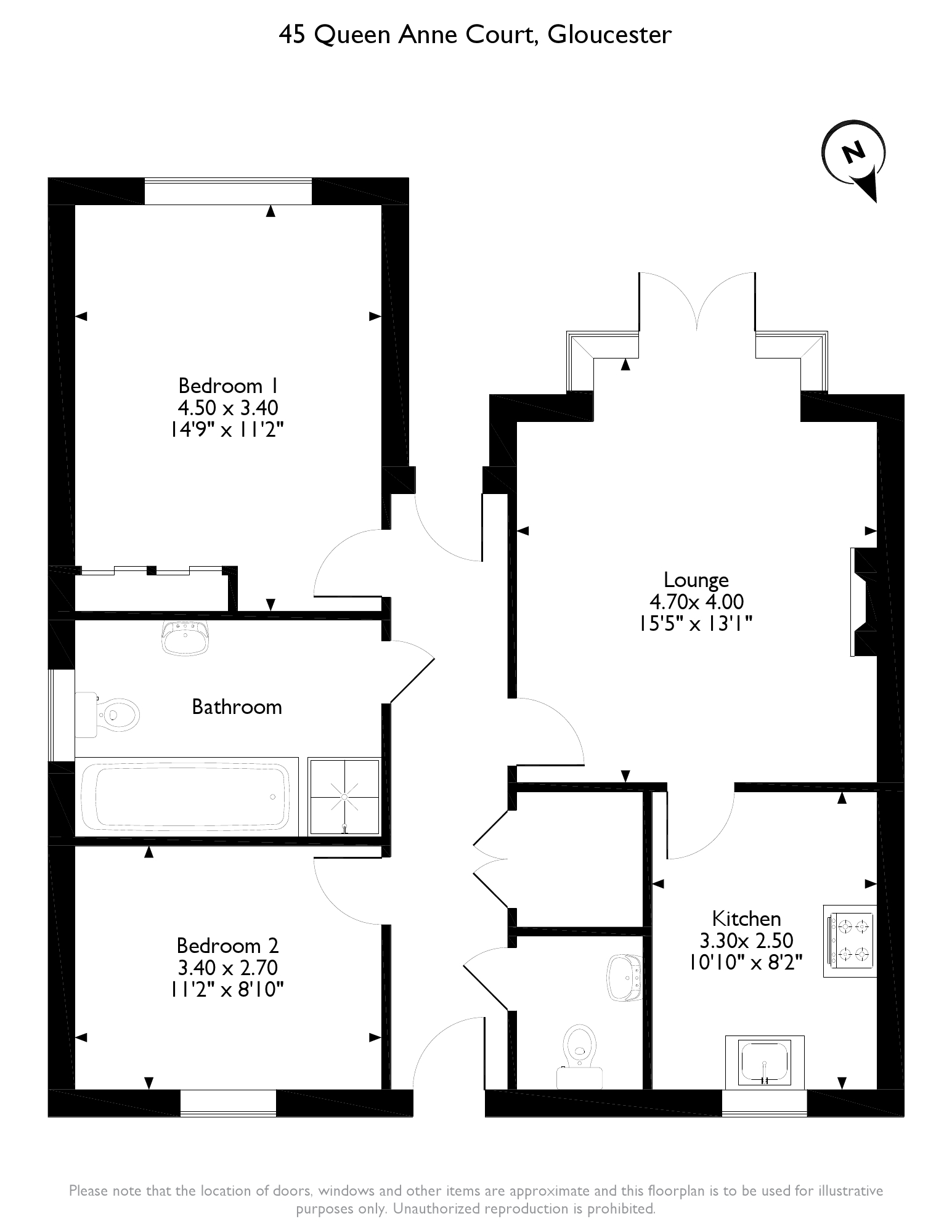 Queen Anne Court, Gloucester, GL2 floor plan