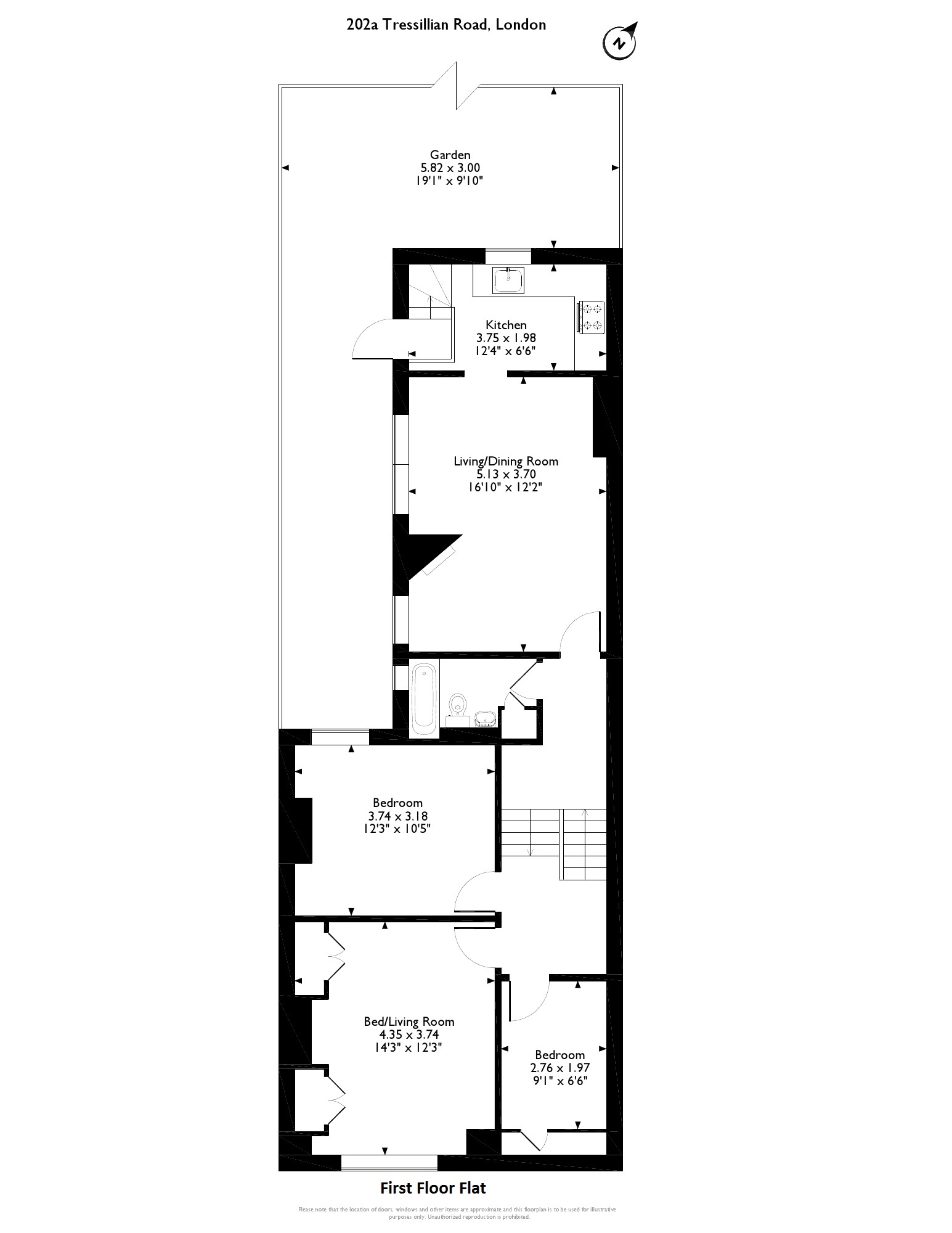 Tressillian Road, London,  SE4 floor plan