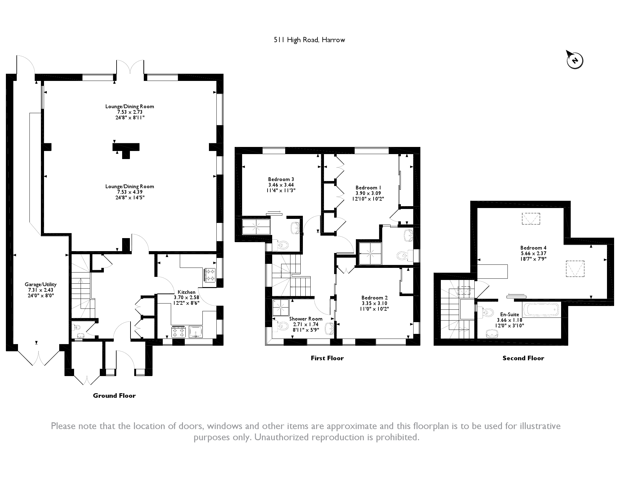 High Road, Harrow, HA3 floor plan