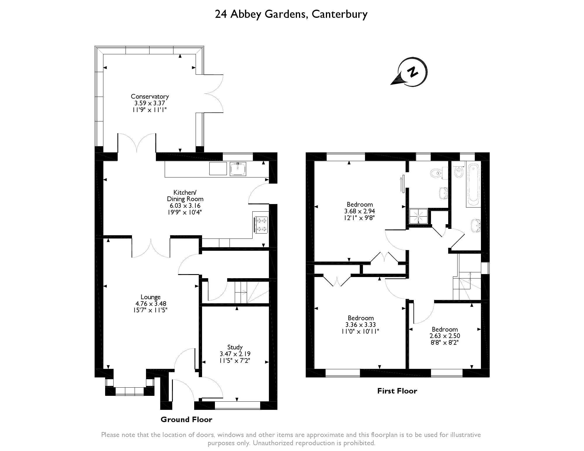 Abbey Gardens, Canterbury, CT2 floor plan