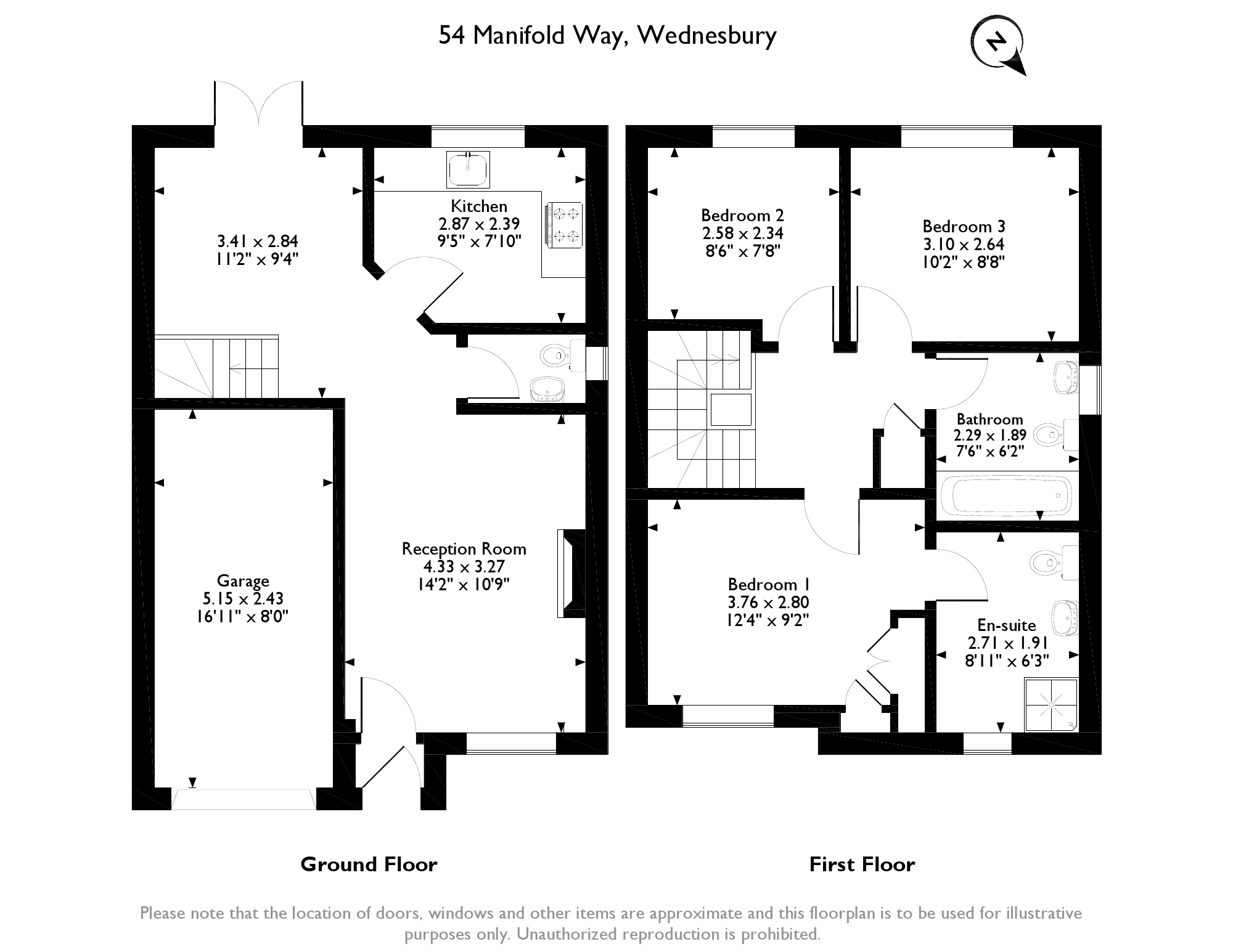 Manifold Way, Wednesbury, WS10 floor plan