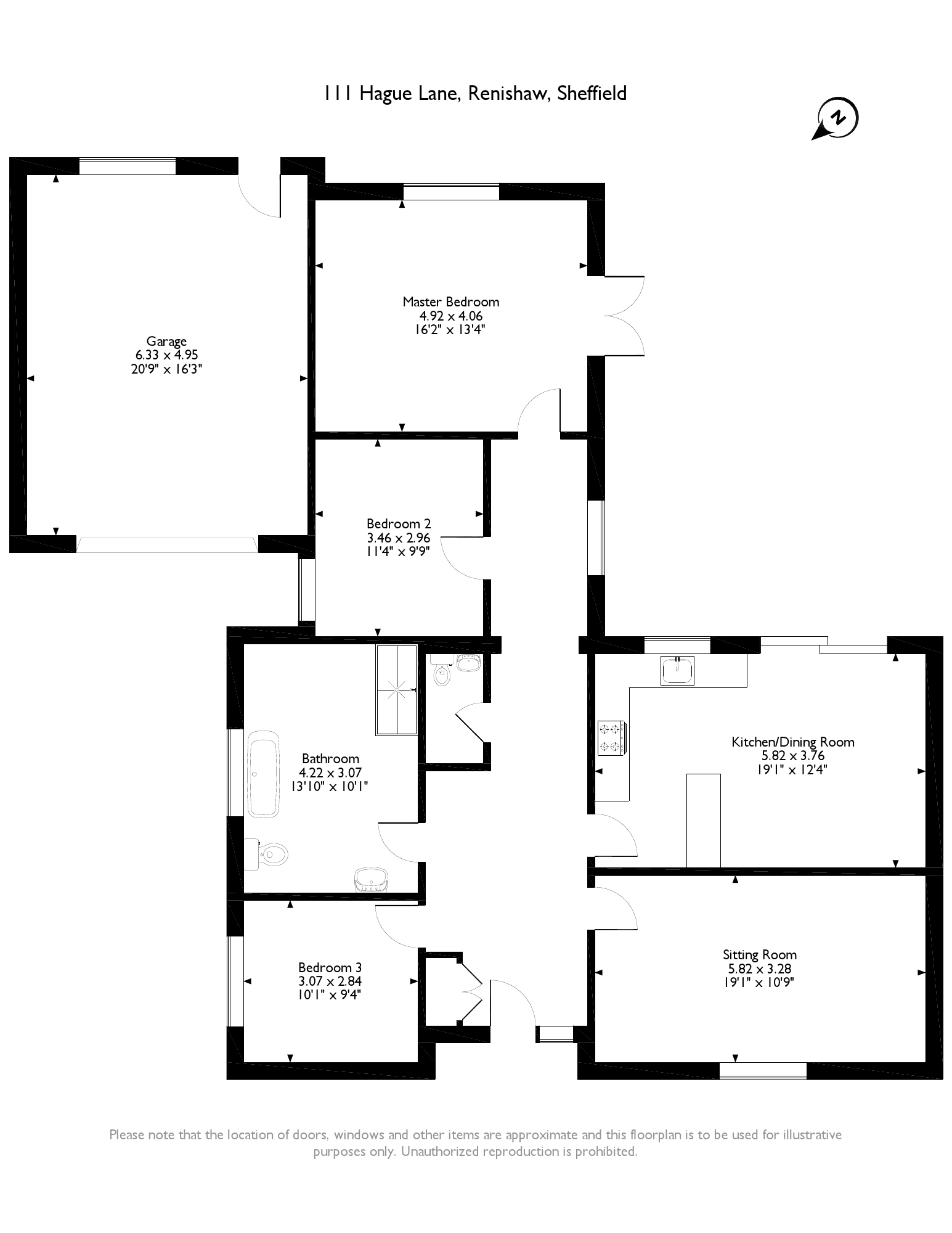 Hague Lane, Renishaw, Sheffield, S21 floor plan