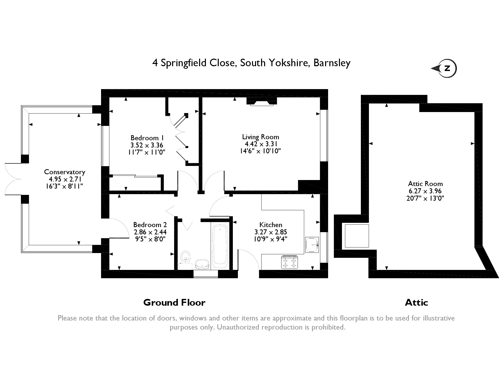 Springfield Close, Darfield, Barnsley, South Yorkshire, S73 floor plan