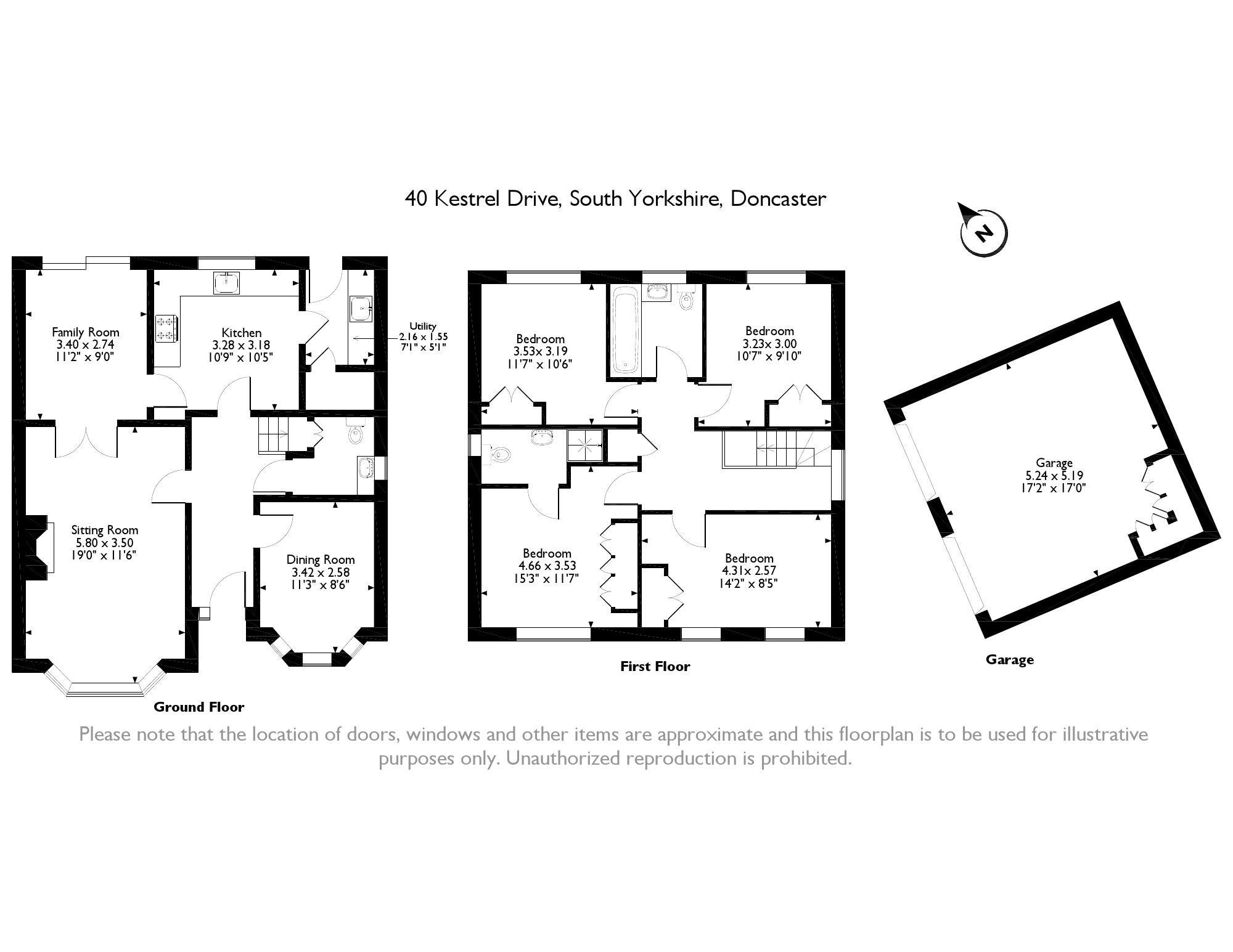 Kestrel Drive, Doncaster, South Yorkshire, DN6 floor plan