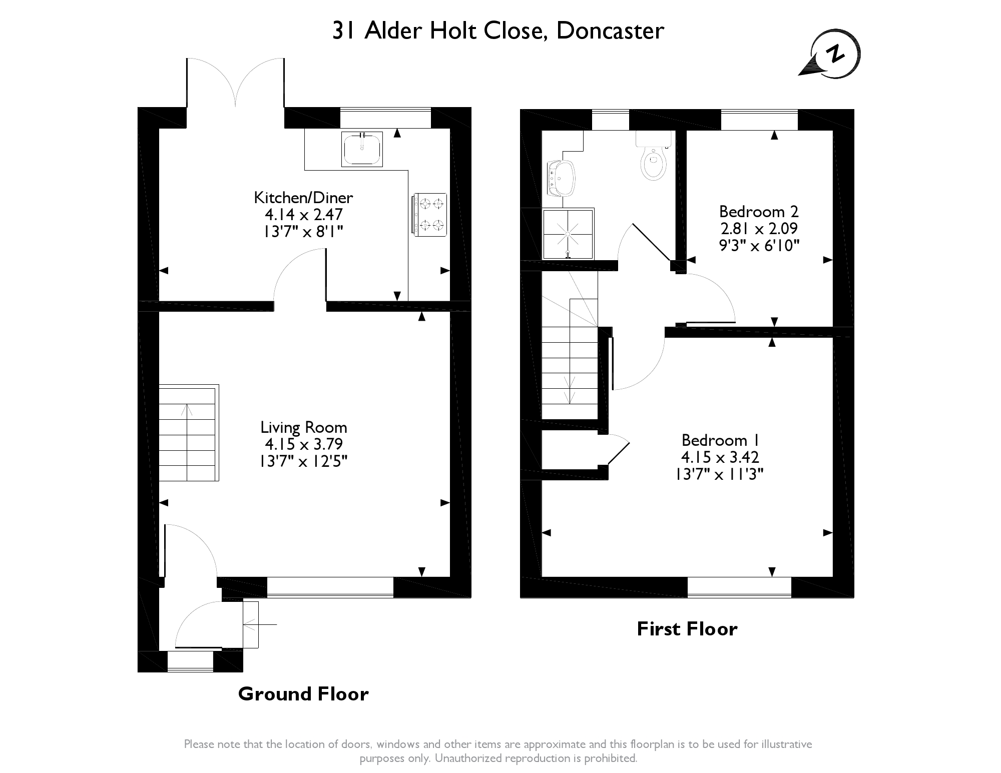 Alder Holt Close, Doncaster, DN3 floor plan
