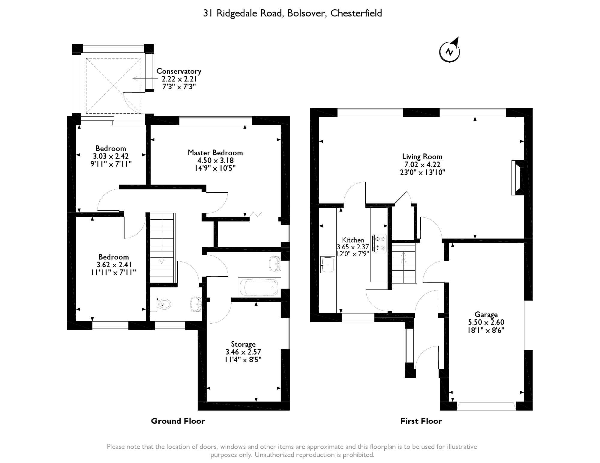Ridgedale Road, Chesterfield,S44 floor plan
