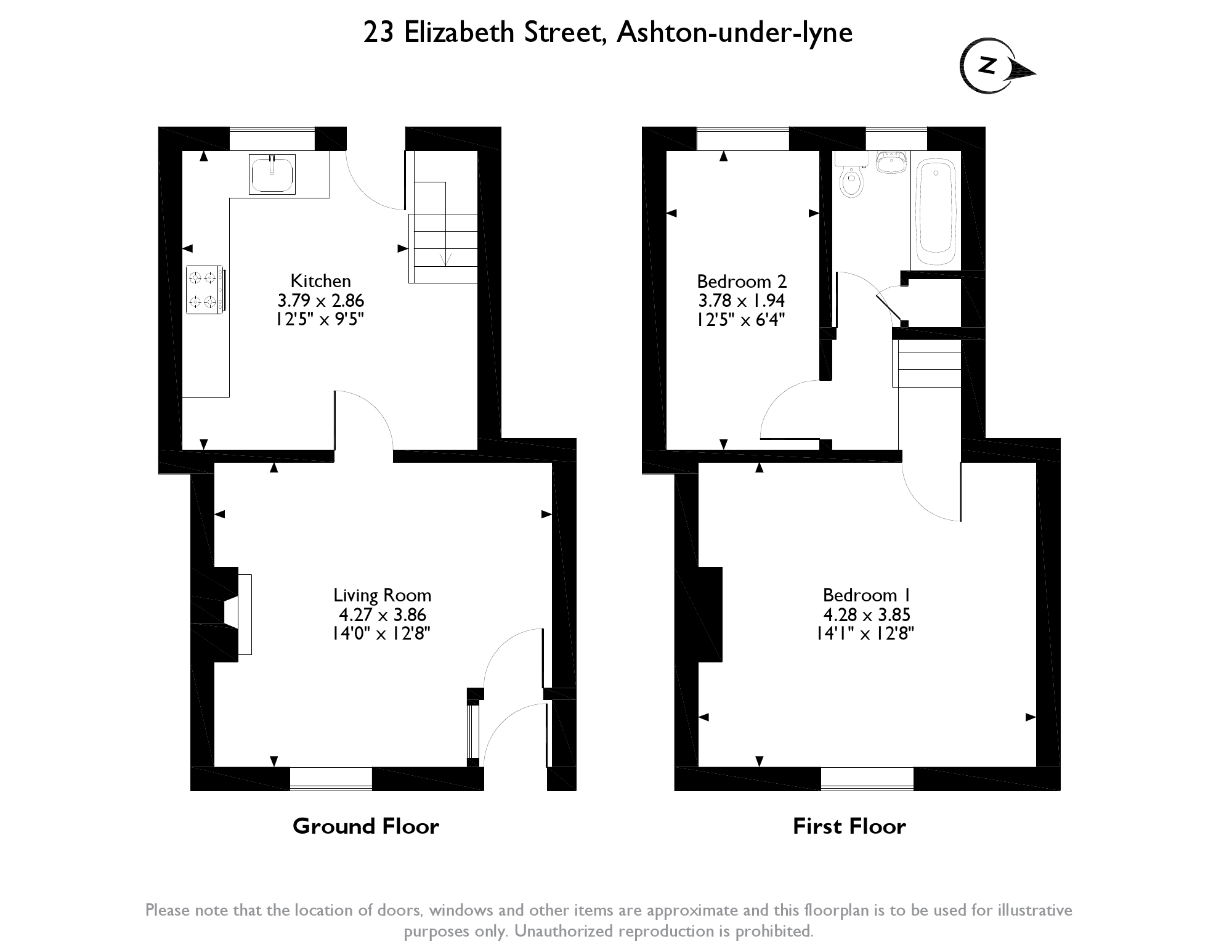 Elizabeth Street, Ashton-under-lyne, OL6 floor plan