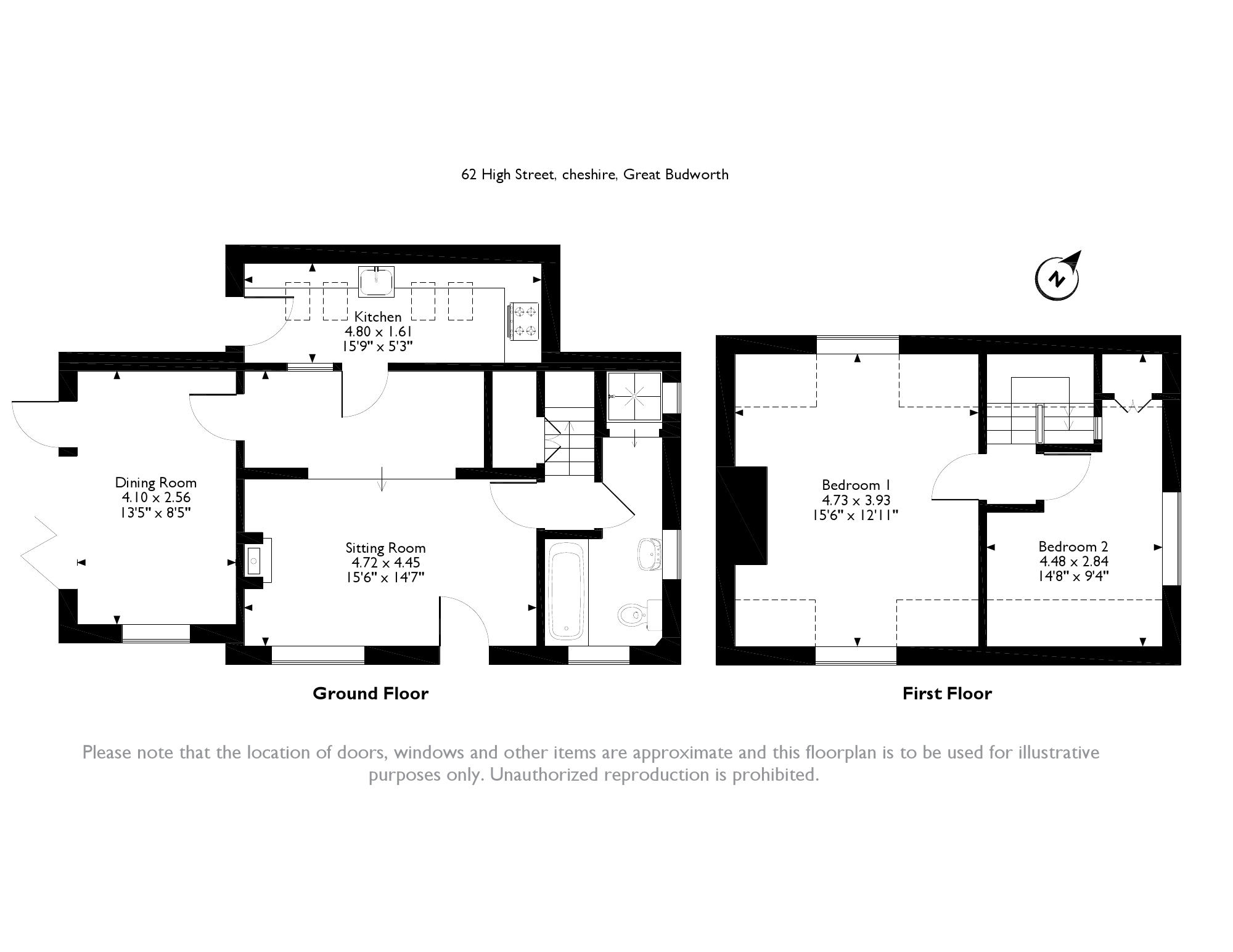 High Street, Great Budworth, Cheshire, CW9 floor plan