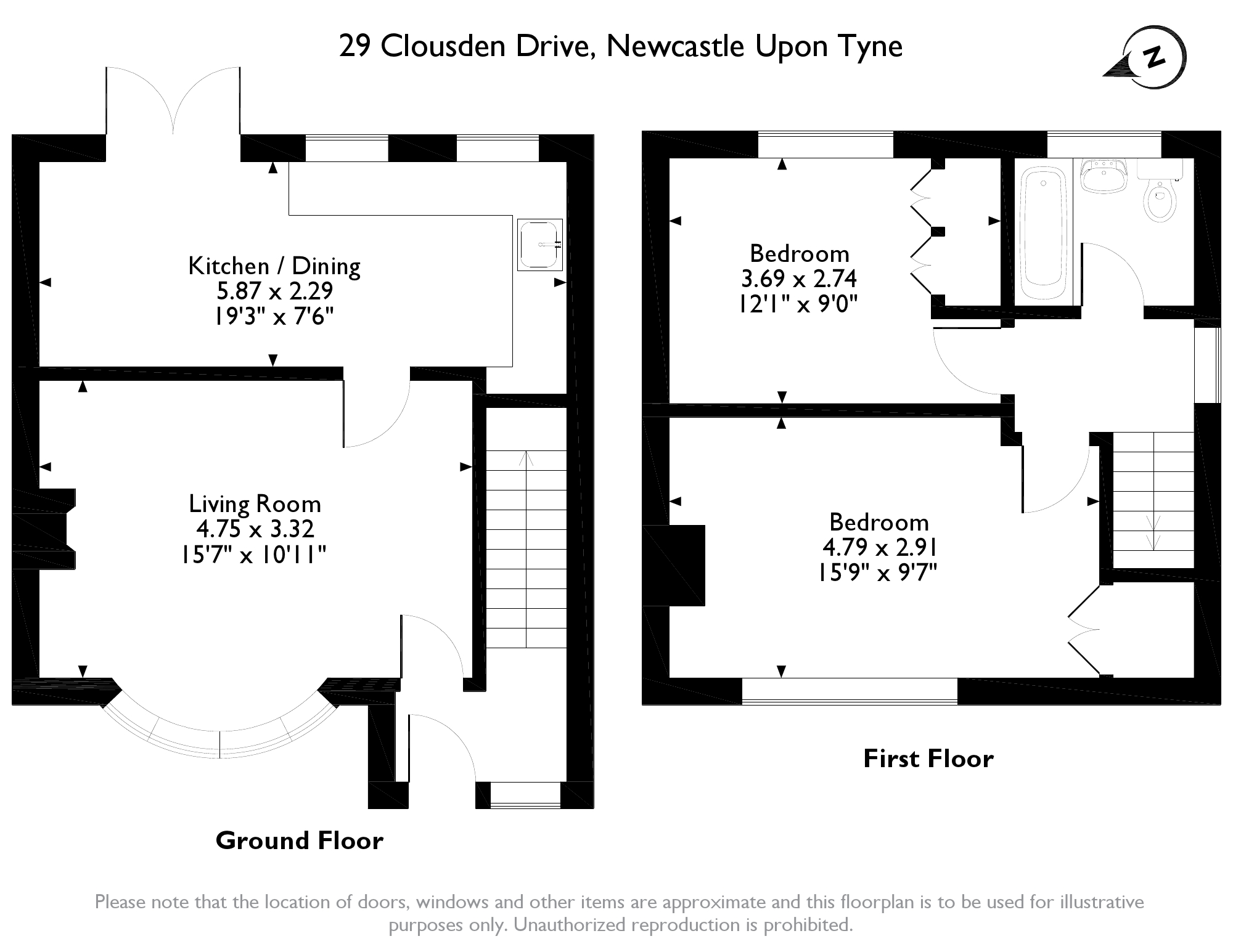 Clousden Drive, Newcastle Upon Tyne, NE12 floor plan