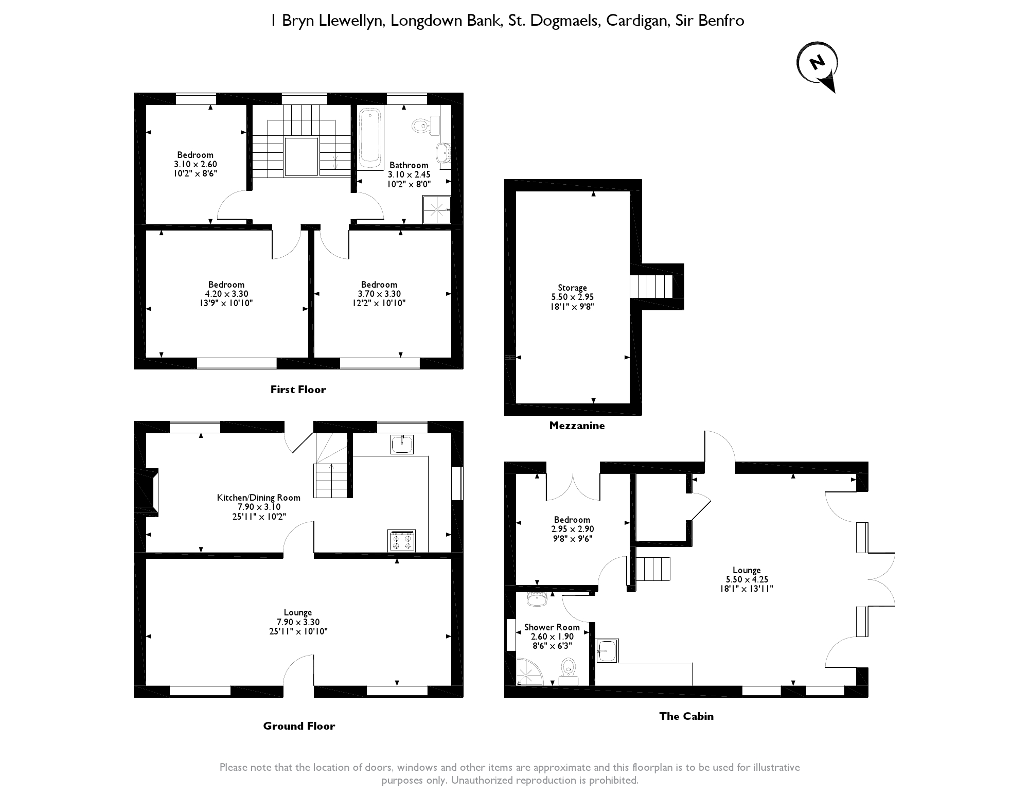 Longdown Bank, St. Dogmaels, Cardigan, Pembrokeshire, SA43 floor plan