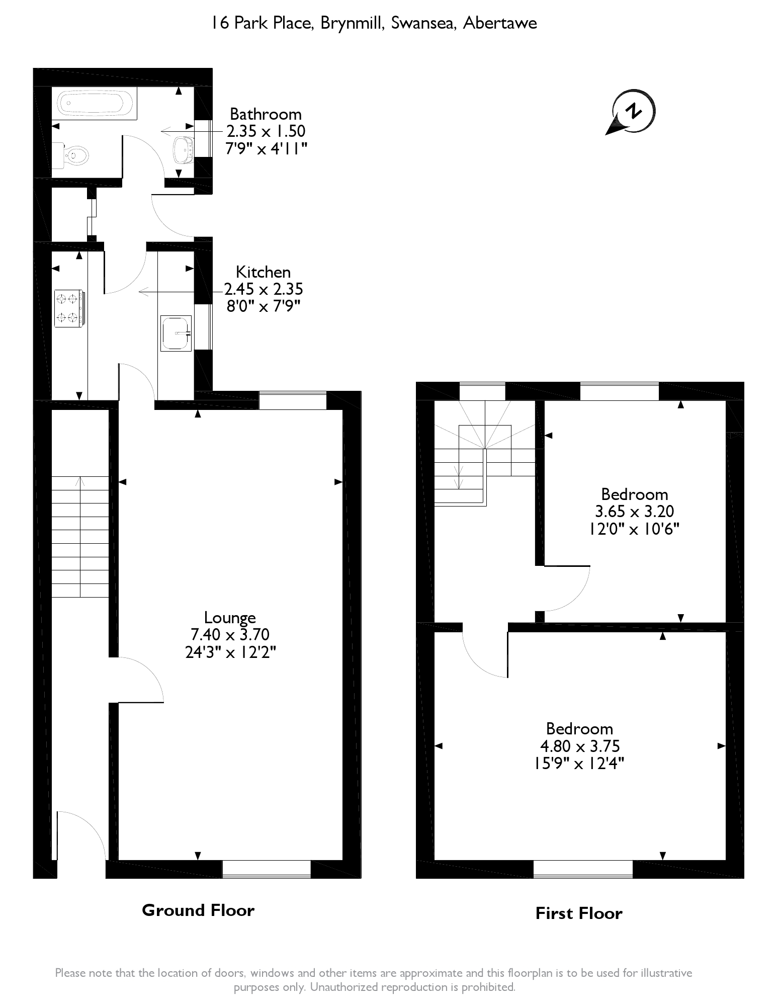 Park Place, Swansea, SA2 floor plan