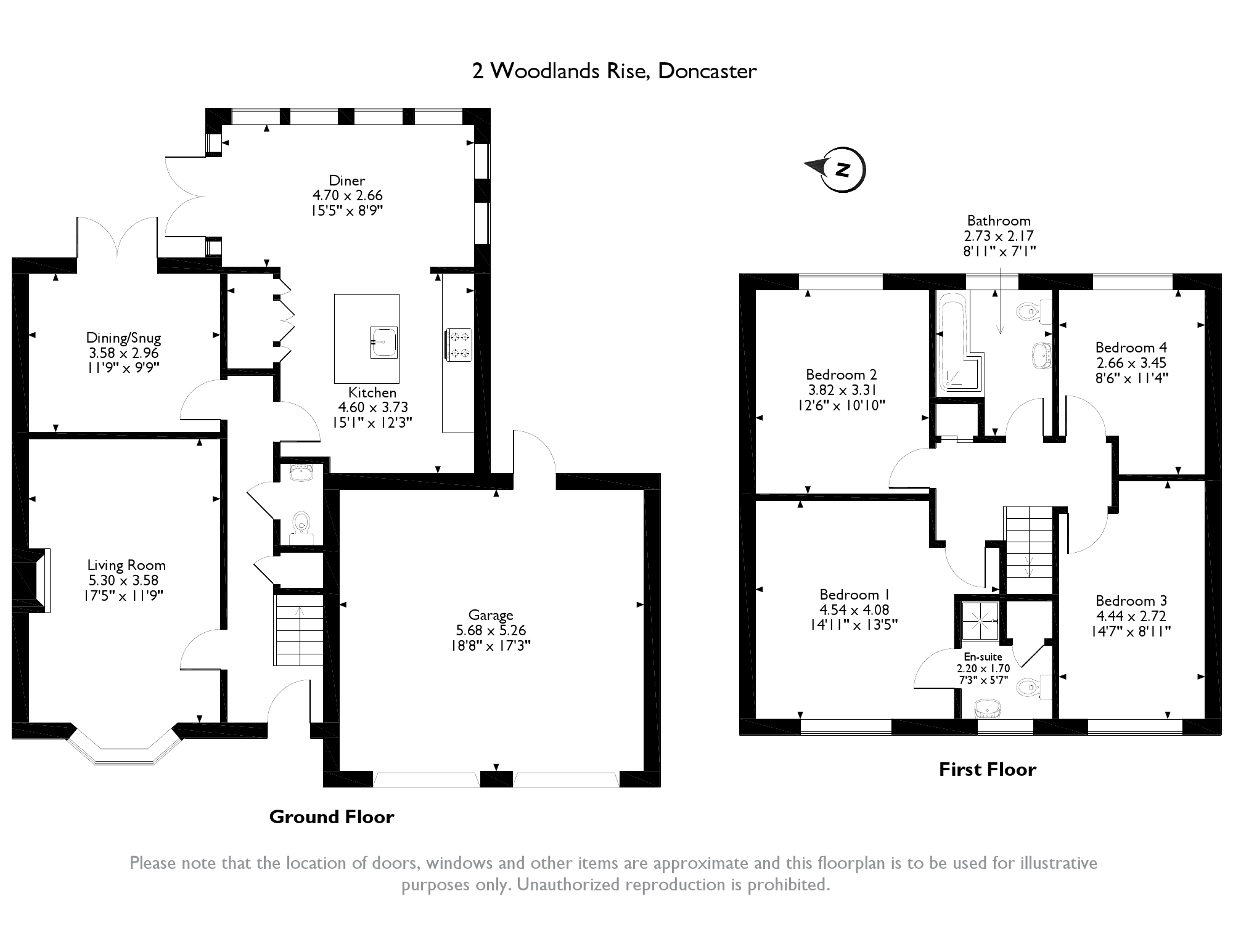 Woodlands Rise, Doncaster, DN6 floor plan