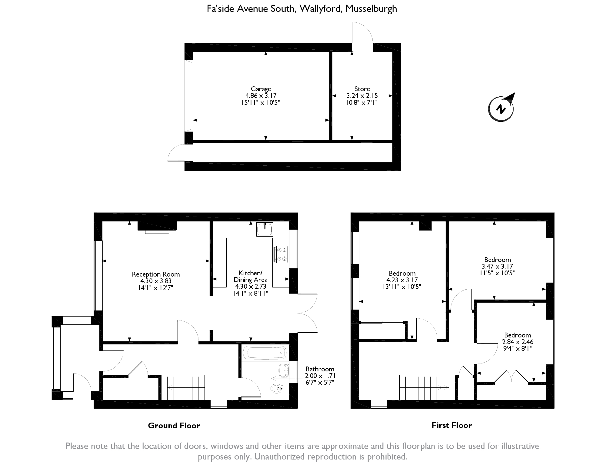 Fa'side Avenue South, Wallyford, Musselburgh, East Lothian, EH21 floor plan