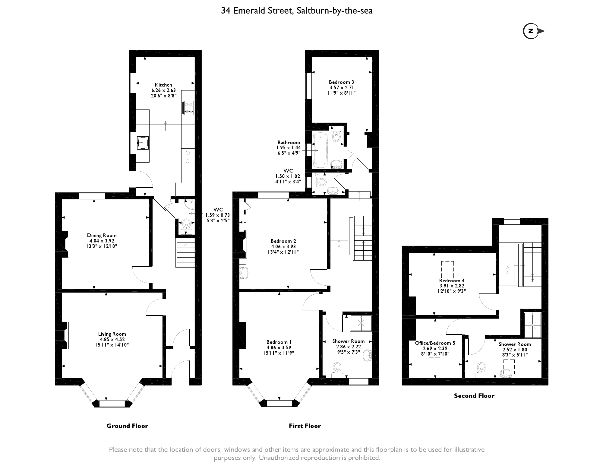 Emerald Street, Saltburn-by-the-sea, TS12 floor plan