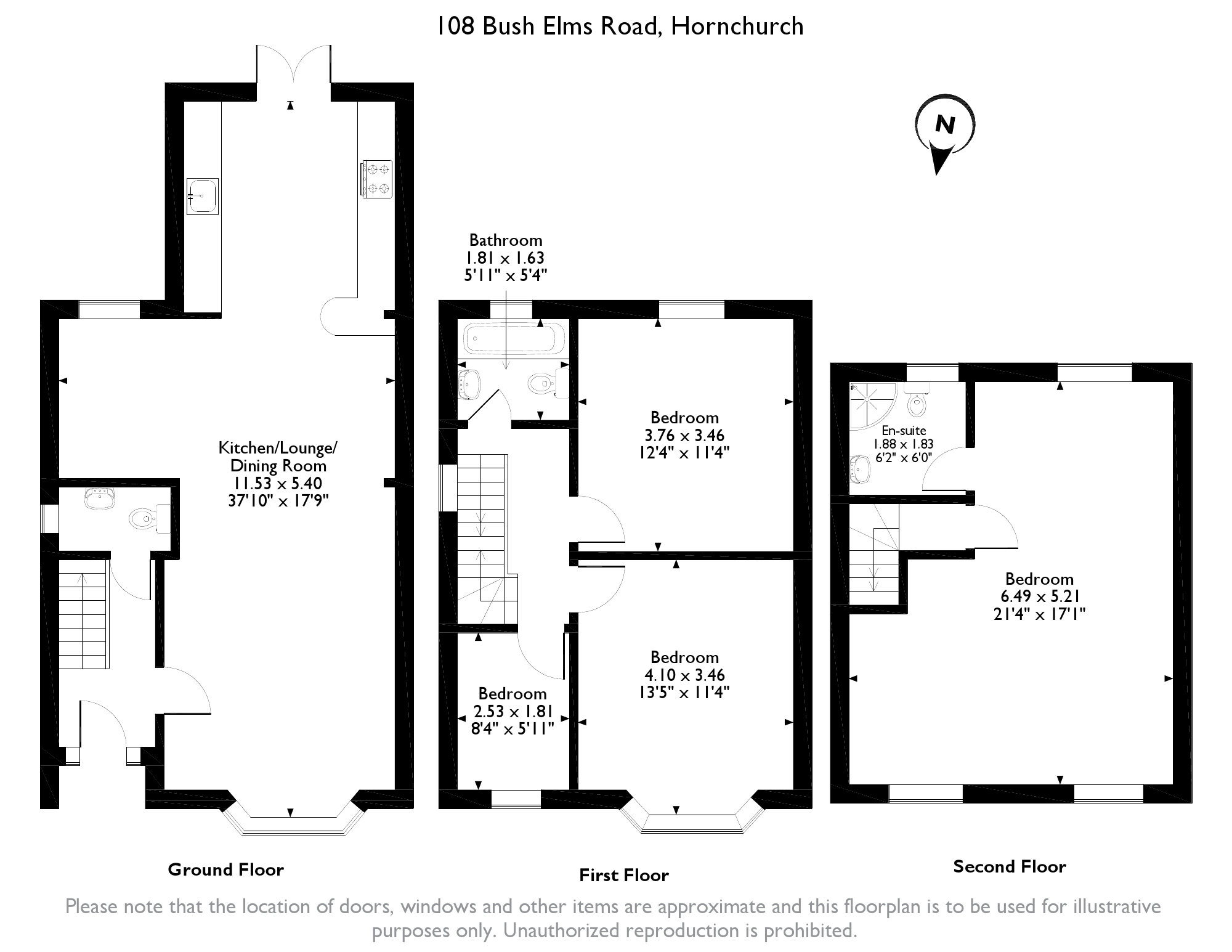 Bush Elms Road, Hornchurch, RM11 floor plan