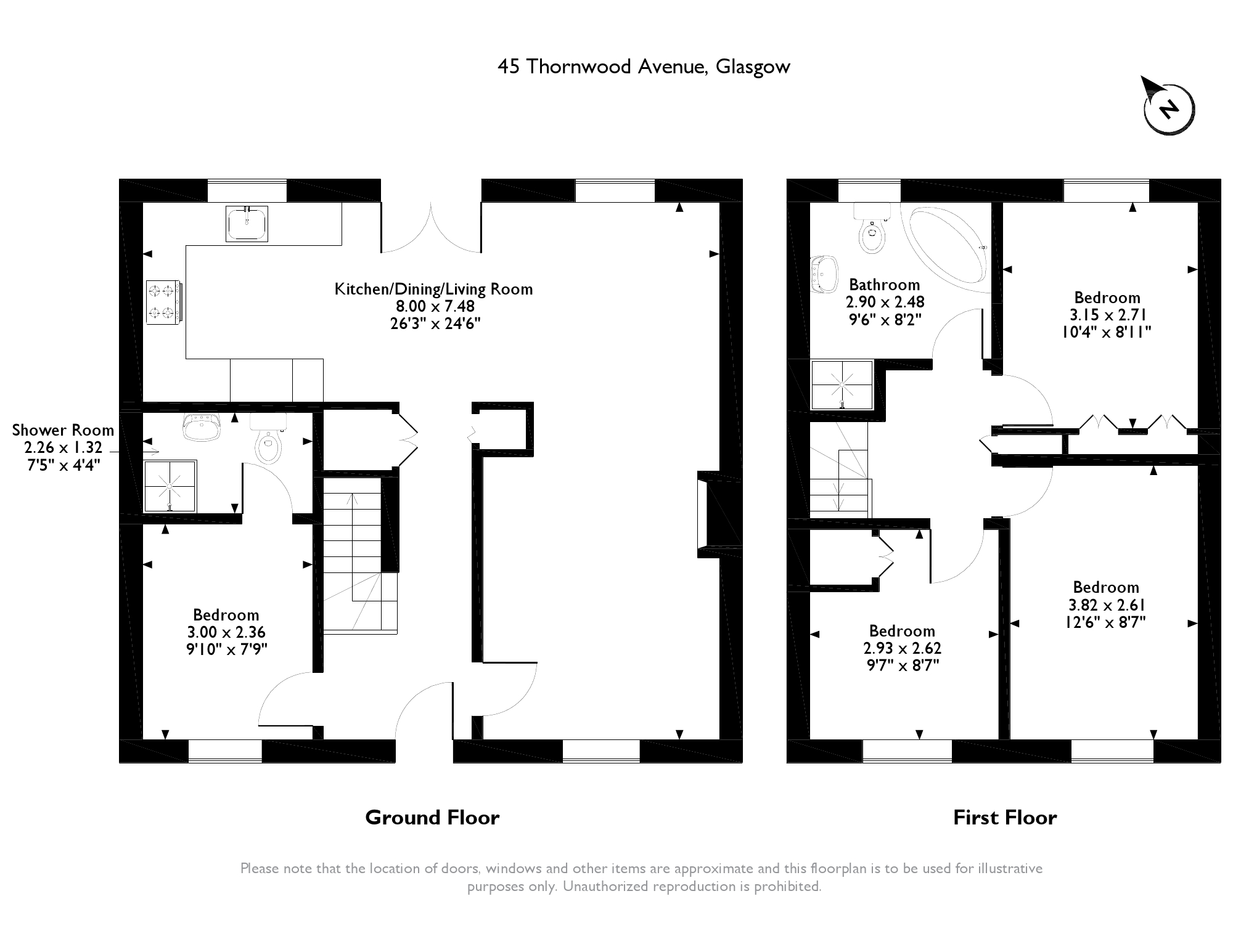 Thornwood Avenue, Glasgow, G66 floor plan
