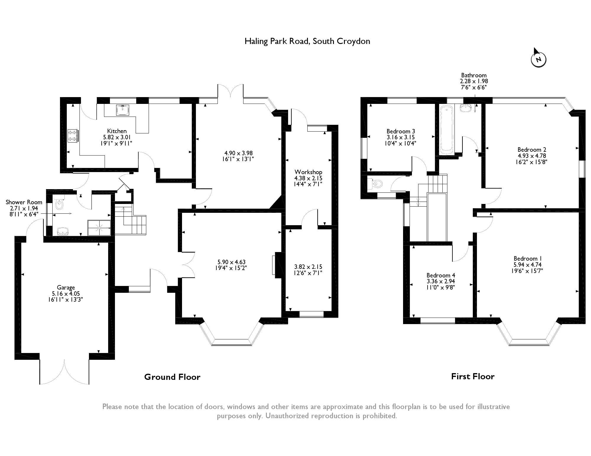 Haling Park Road, South Croydon, CR2 floor plan