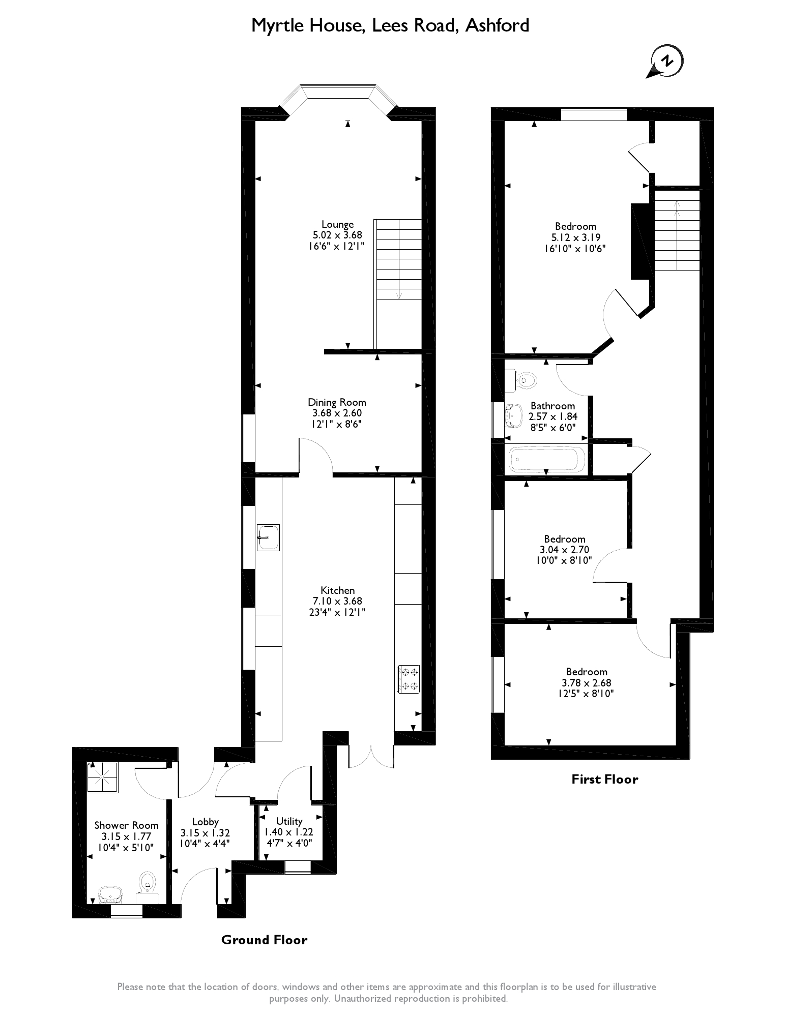 Lees Road, Ashford, TN25 floor plan