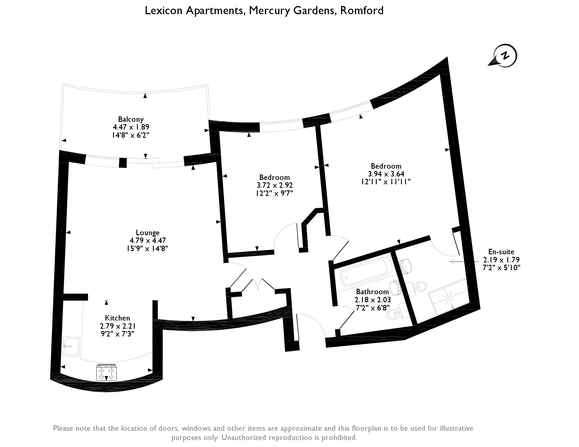 Lexicon Apartments, Mercury Gardens,  Romford, RM1 floor plan