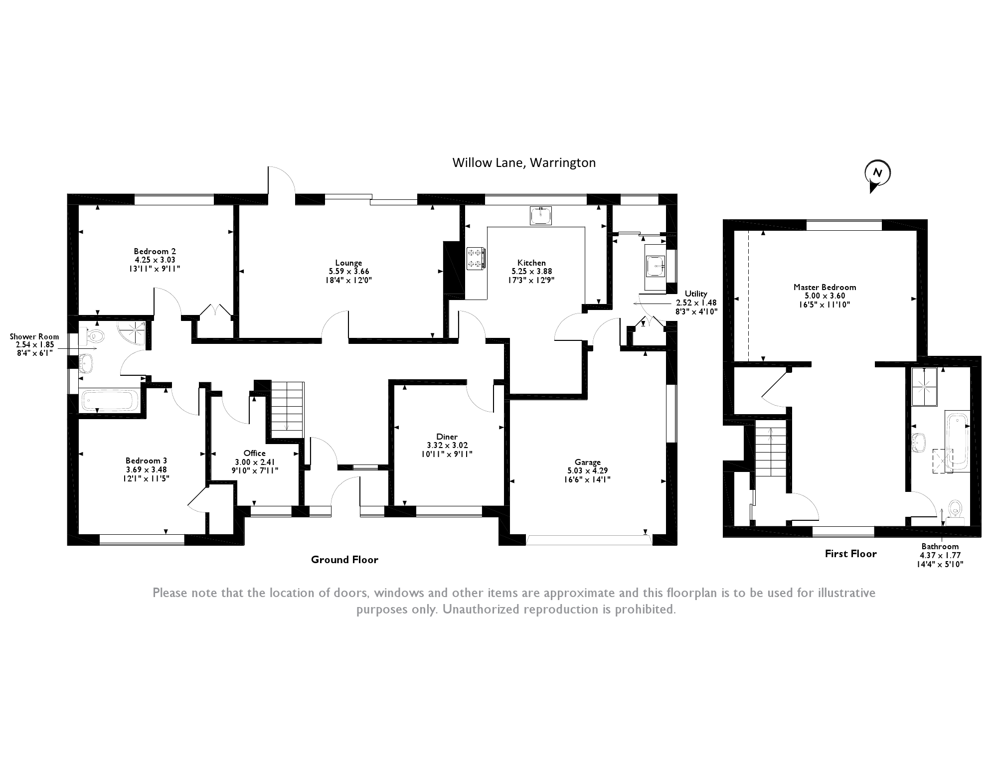 Willow Lane , Appleton Park,Warrington, WA4 floor plan