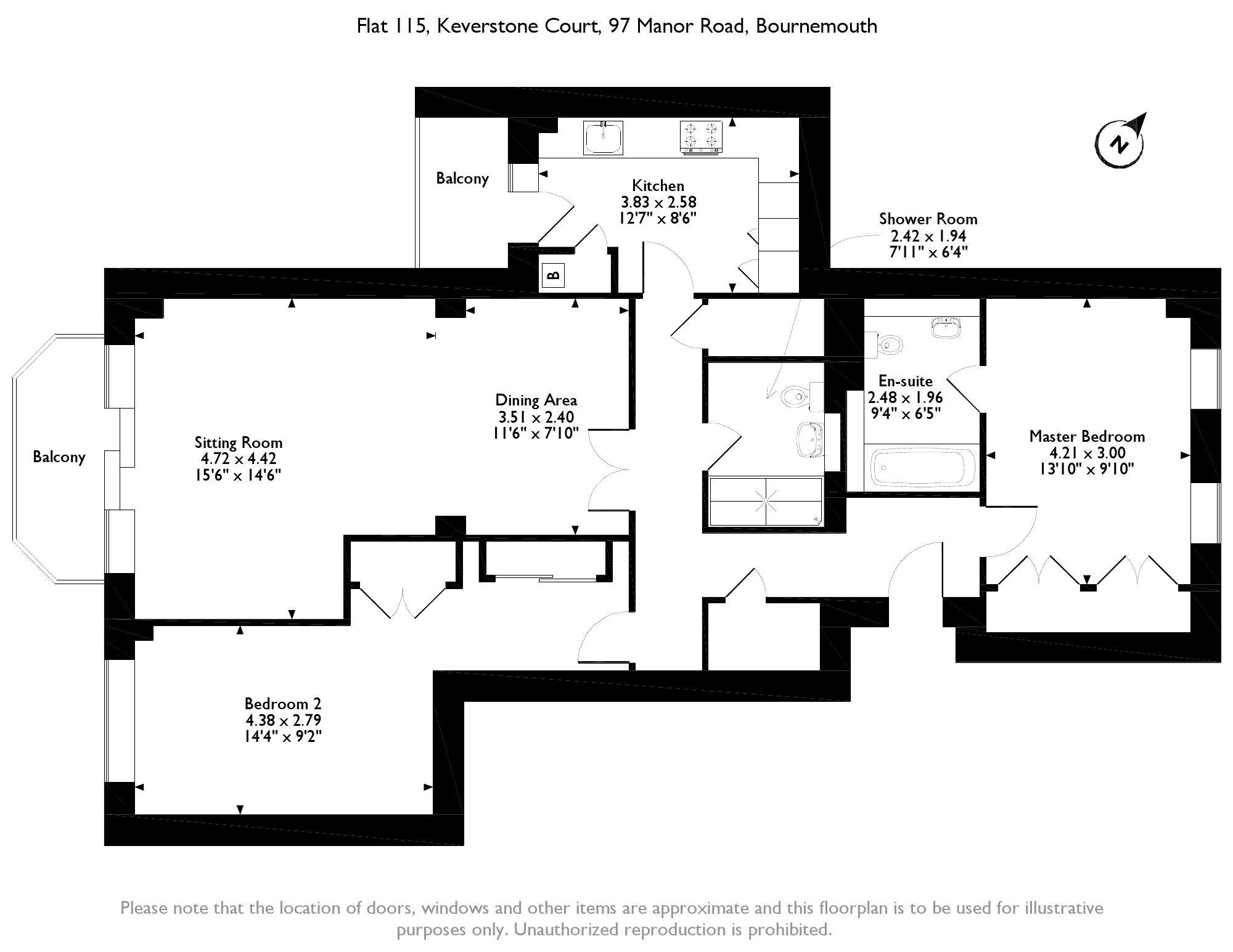 Manor Road, Bournemouth, BH1 floor plan
