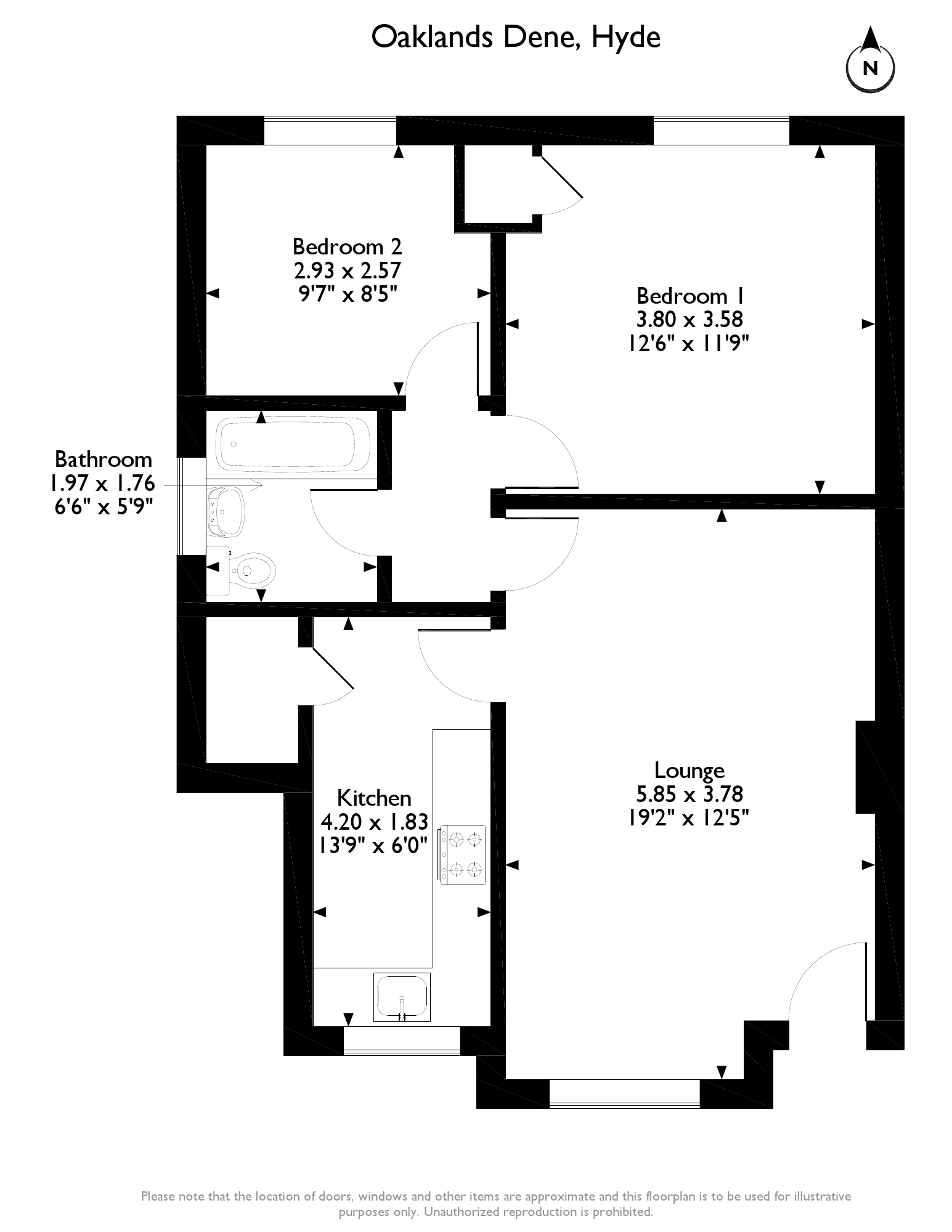 Oaklands Dene, Hyde, SK14 floor plan