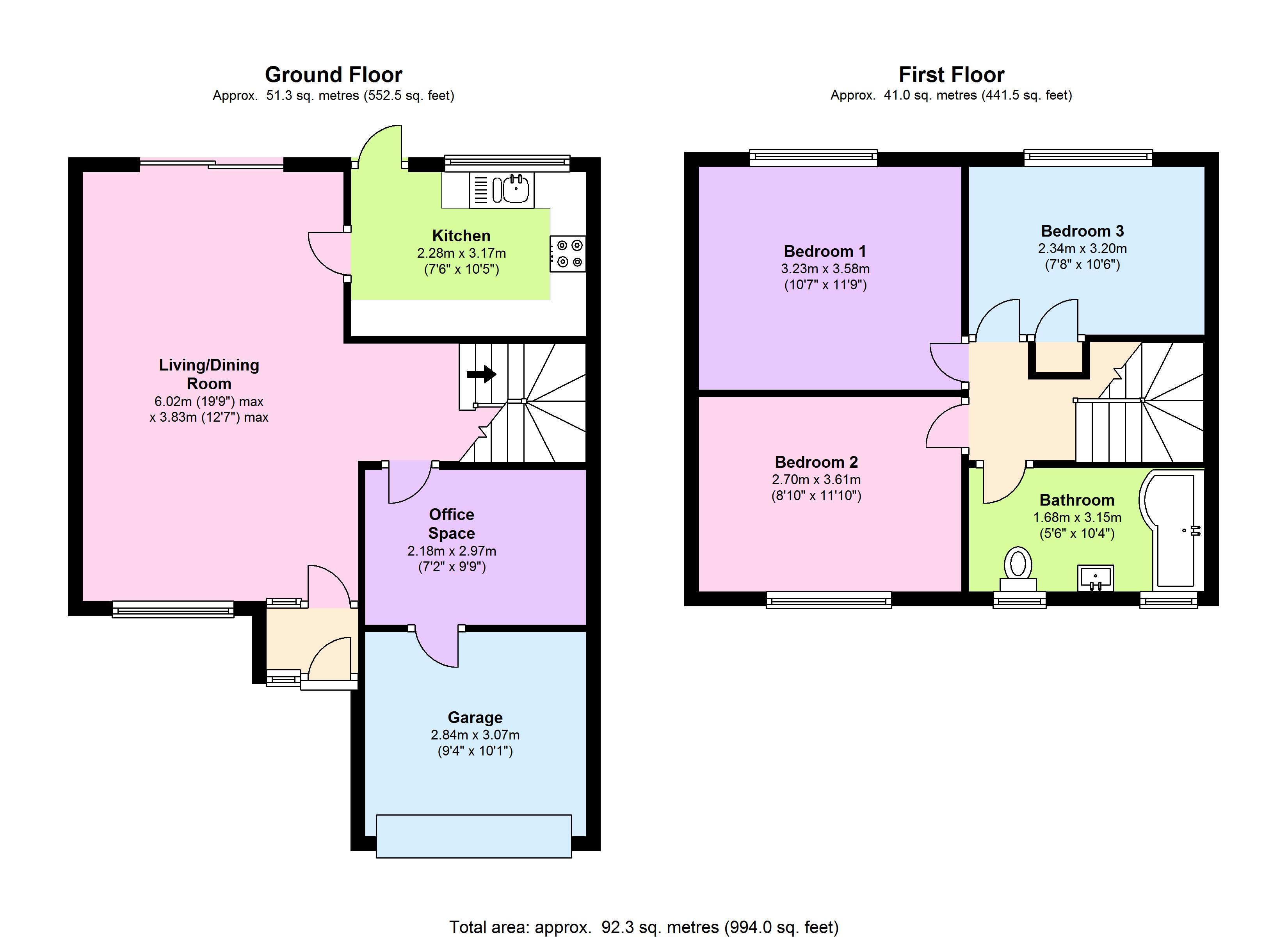 St. Marys Close, Newton Abbot, TQ12 floor plan