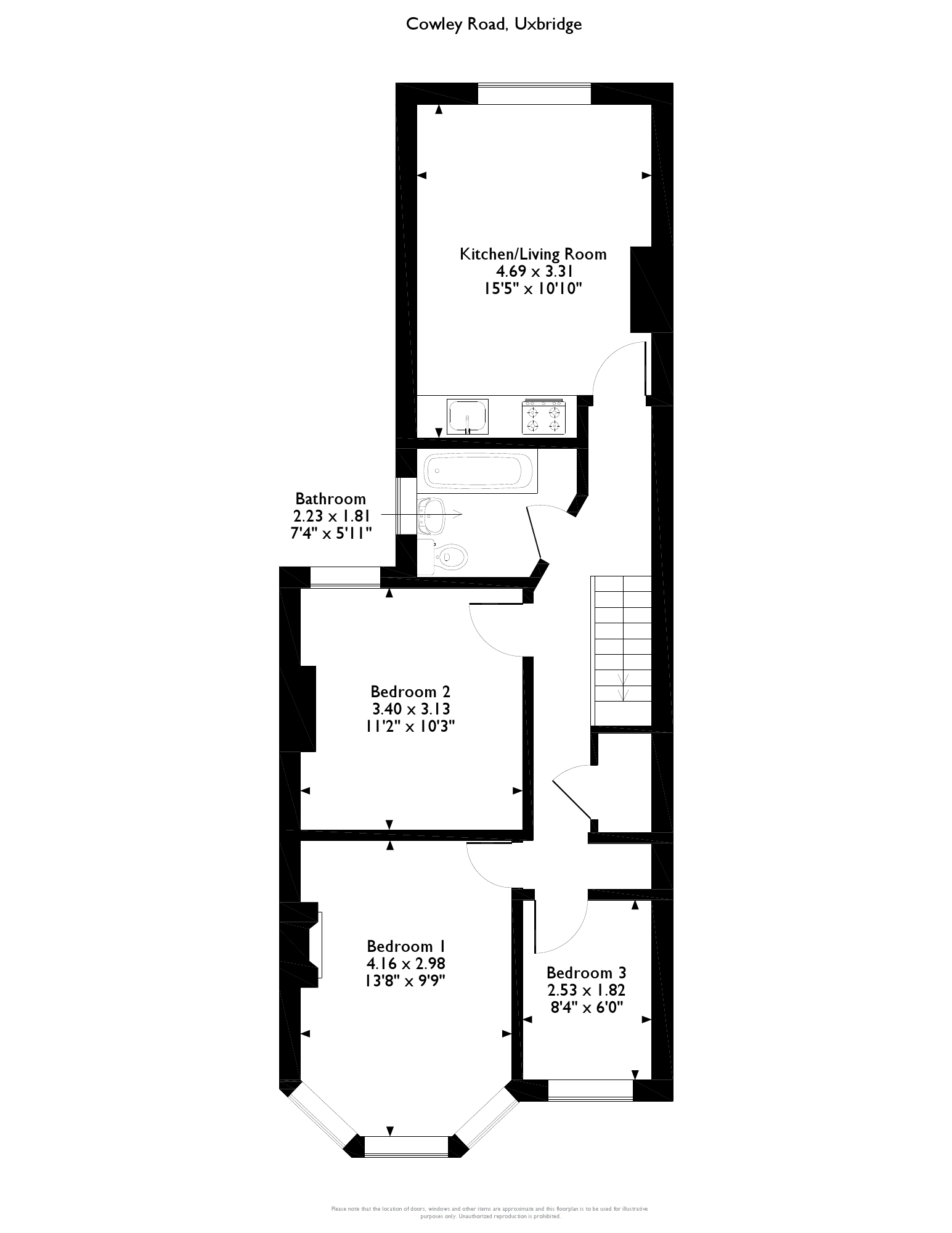 Cowley Road, Uxbridge, UB8 floor plan