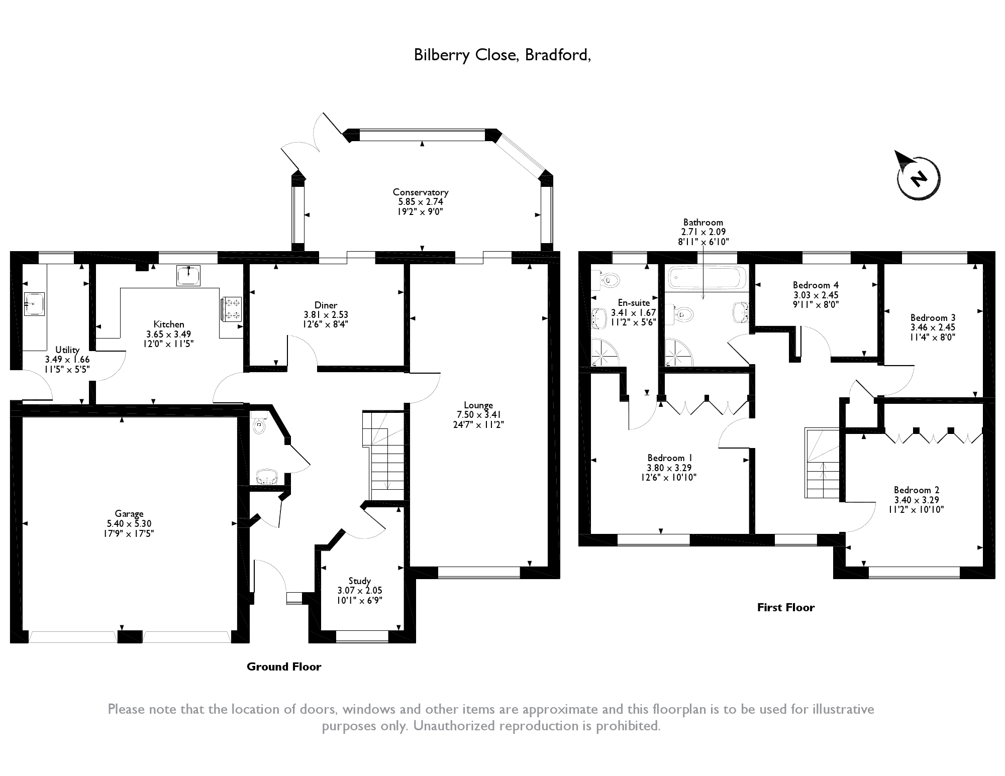 Bilberry Close, Bradford, BD14 floor plan