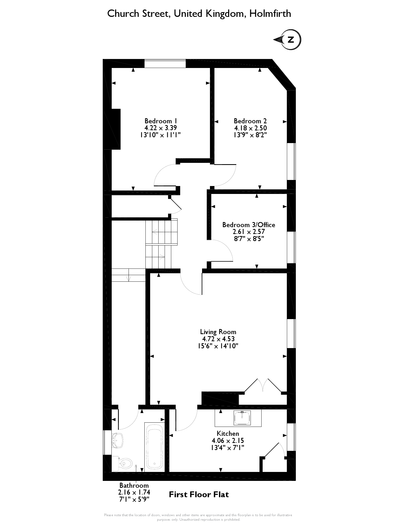 Church Street, Holmfirth, HD9 floor plan