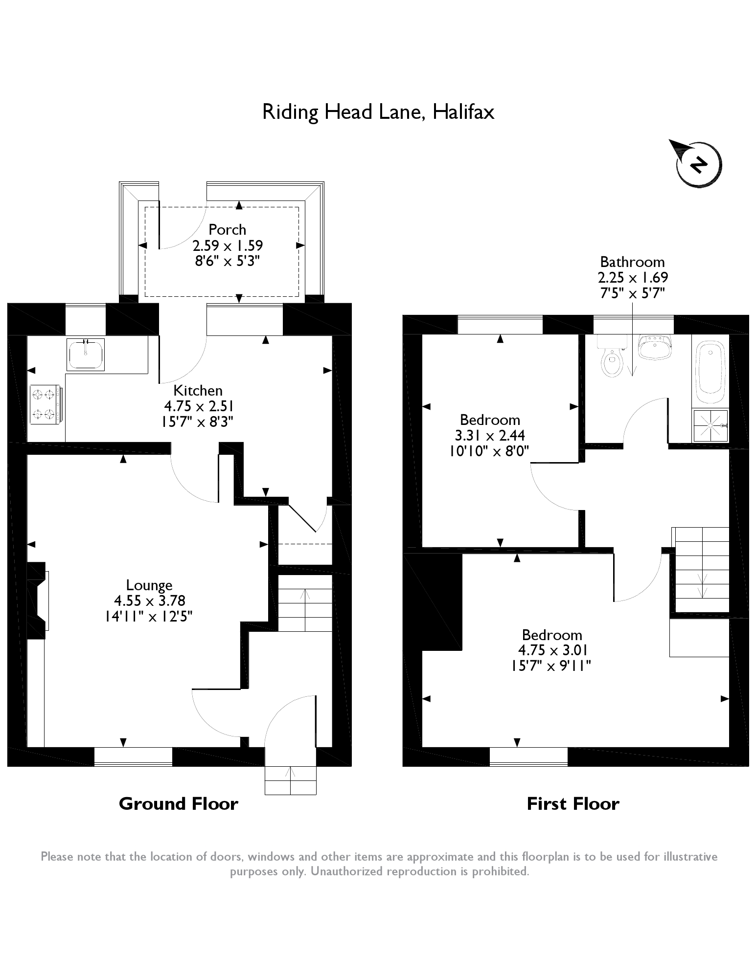 Riding Head Lane, Halifax, HX2 floor plan