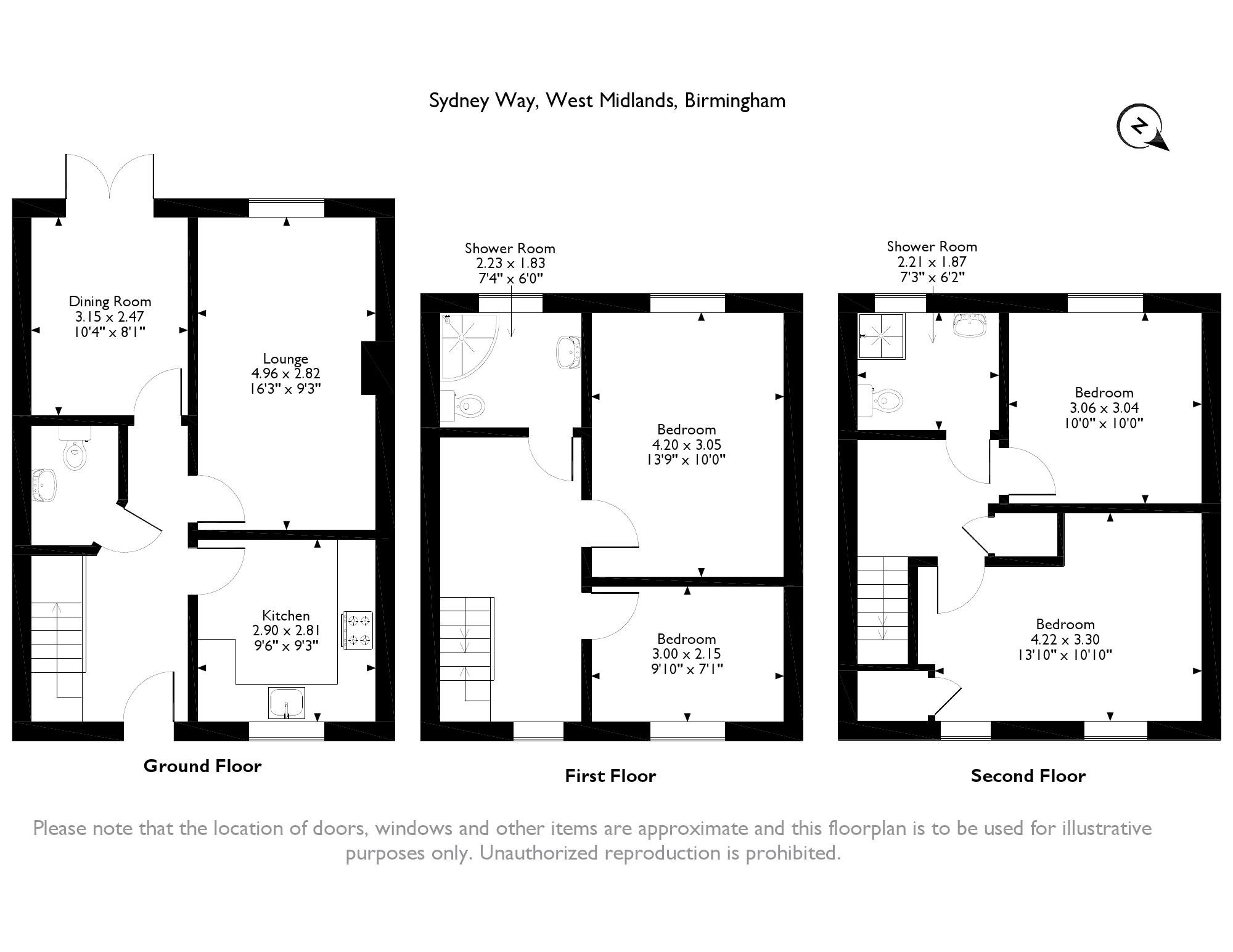 Sydney Way, Birmingham, West Midlands, B34 floor plan