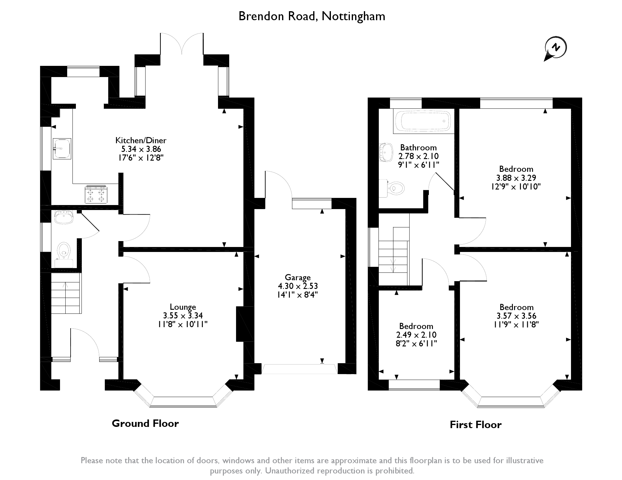 Brendon Road, Nottingham, NG8 floor plan