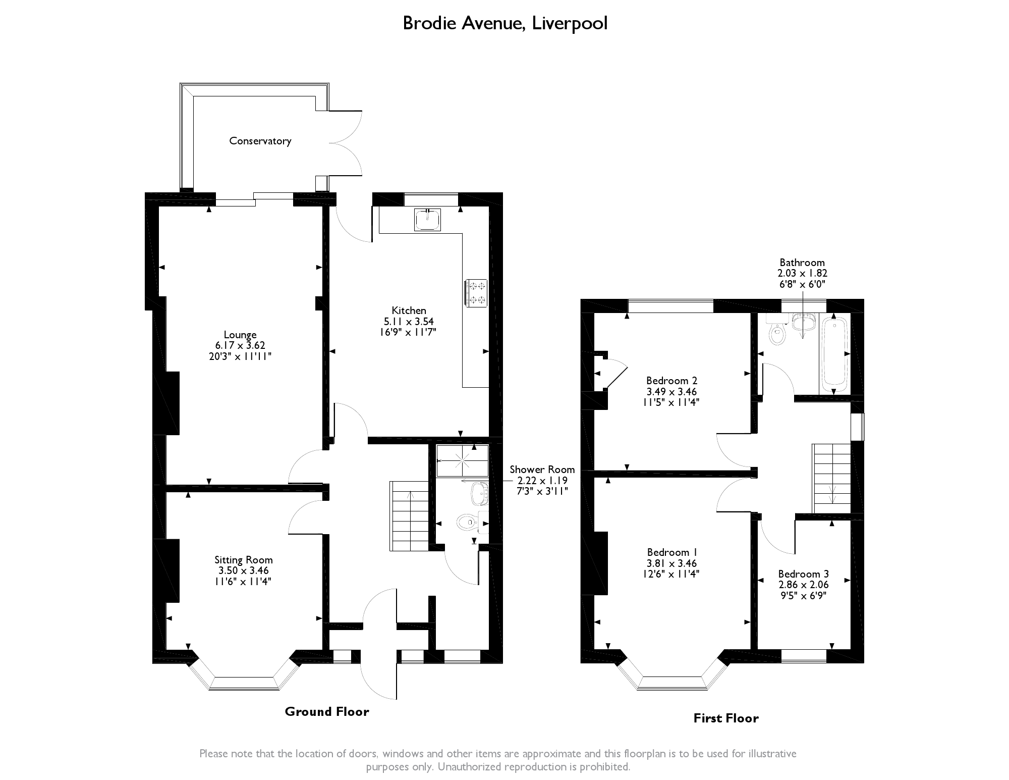 Brodie Avenue, Liverpool, L19 floor plan