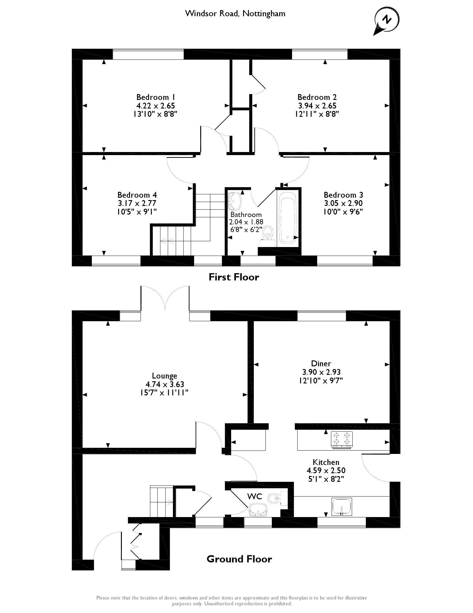 Windsor Road, Nottingham, NG16 floor plan