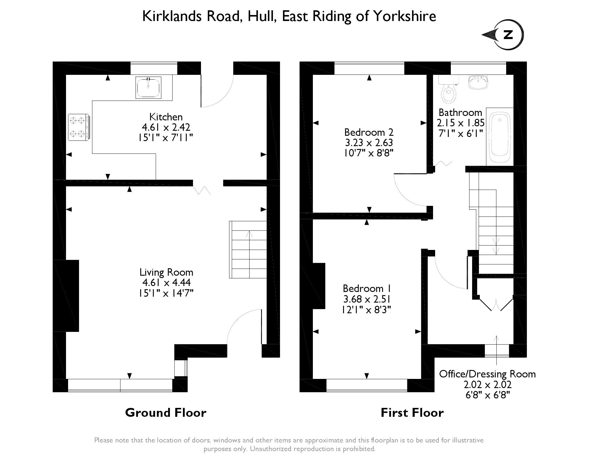 Kirklands Road, Hull, HU5 floor plan