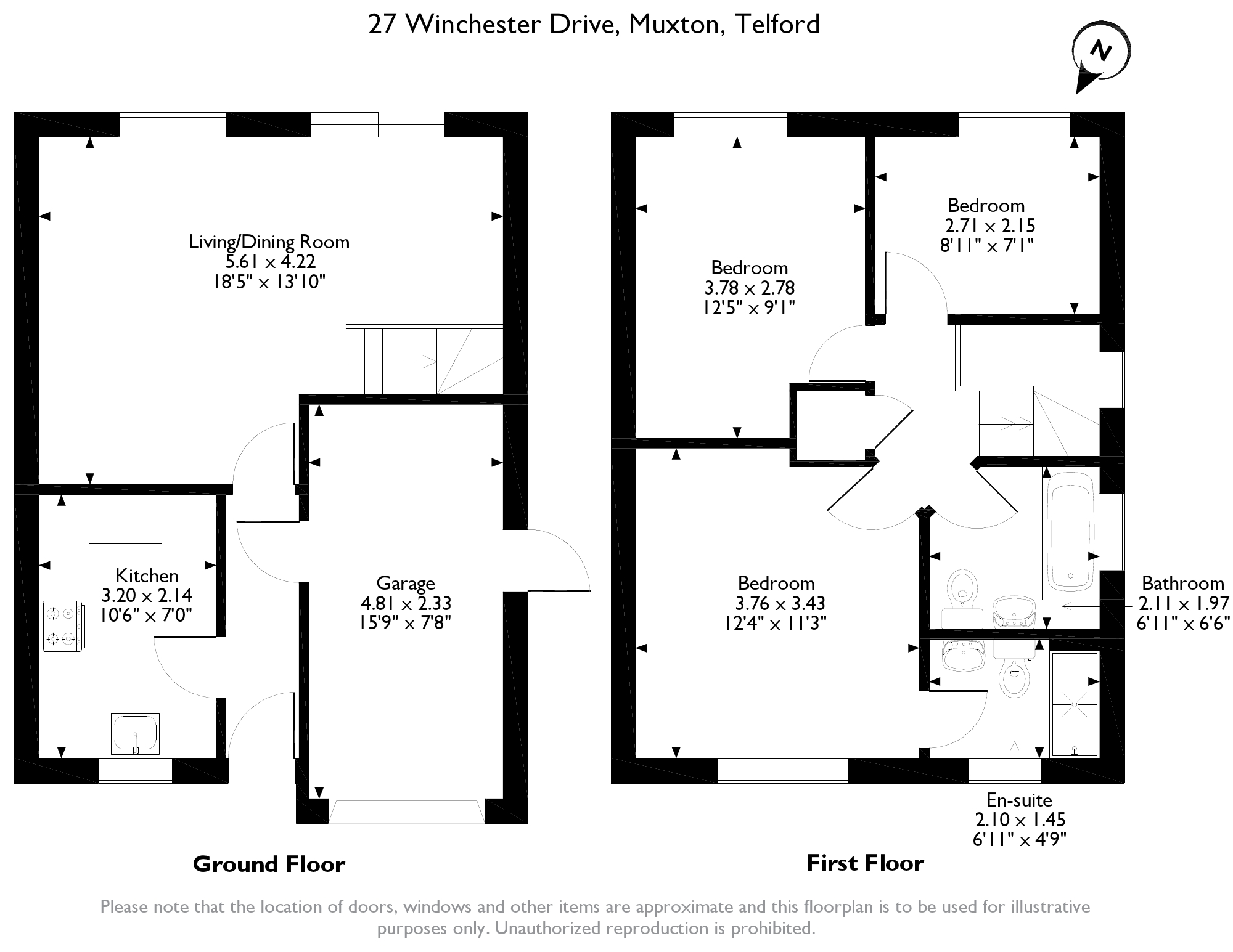 Winchester Drive, Telford, TF2 floor plan