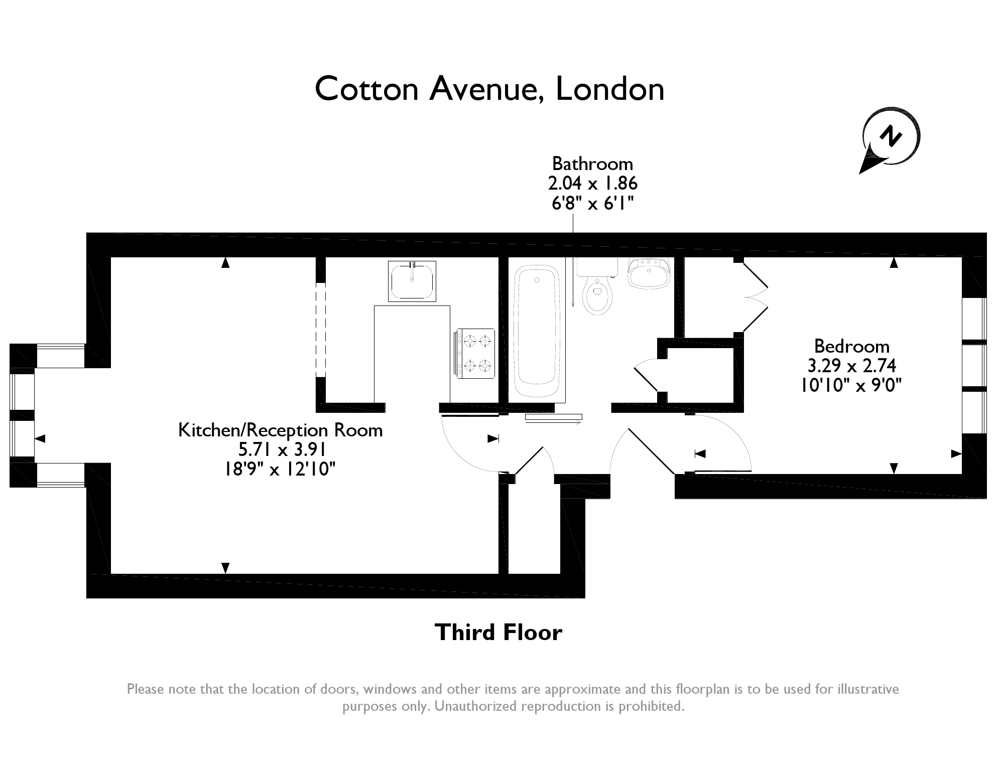 Cotton Avenue, London, W3 floor plan